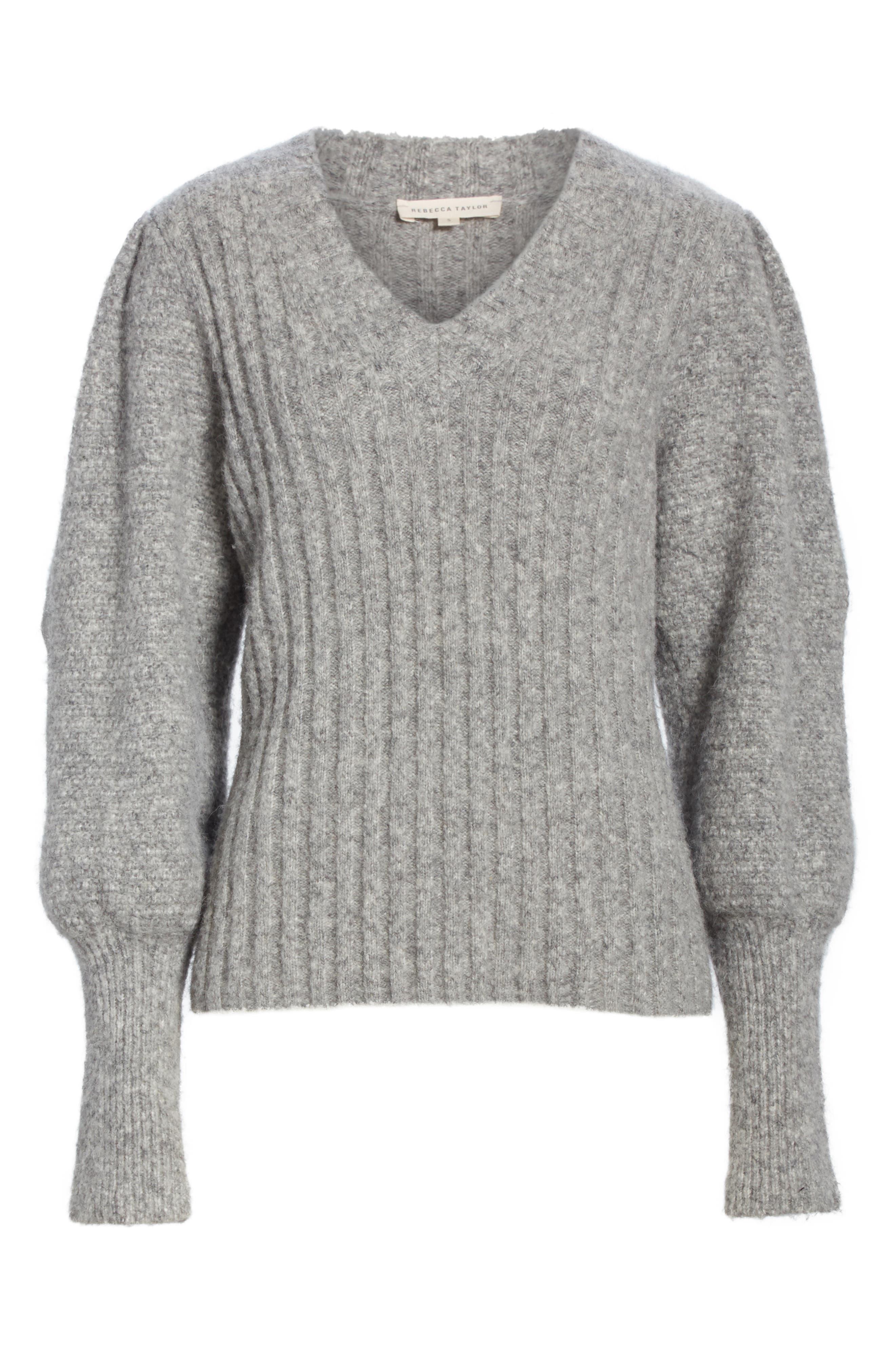 REBECCA TAYLOR,                             Lofty Alpaca Wool Blend Sweater,                             Alternate thumbnail 6, color,                             052