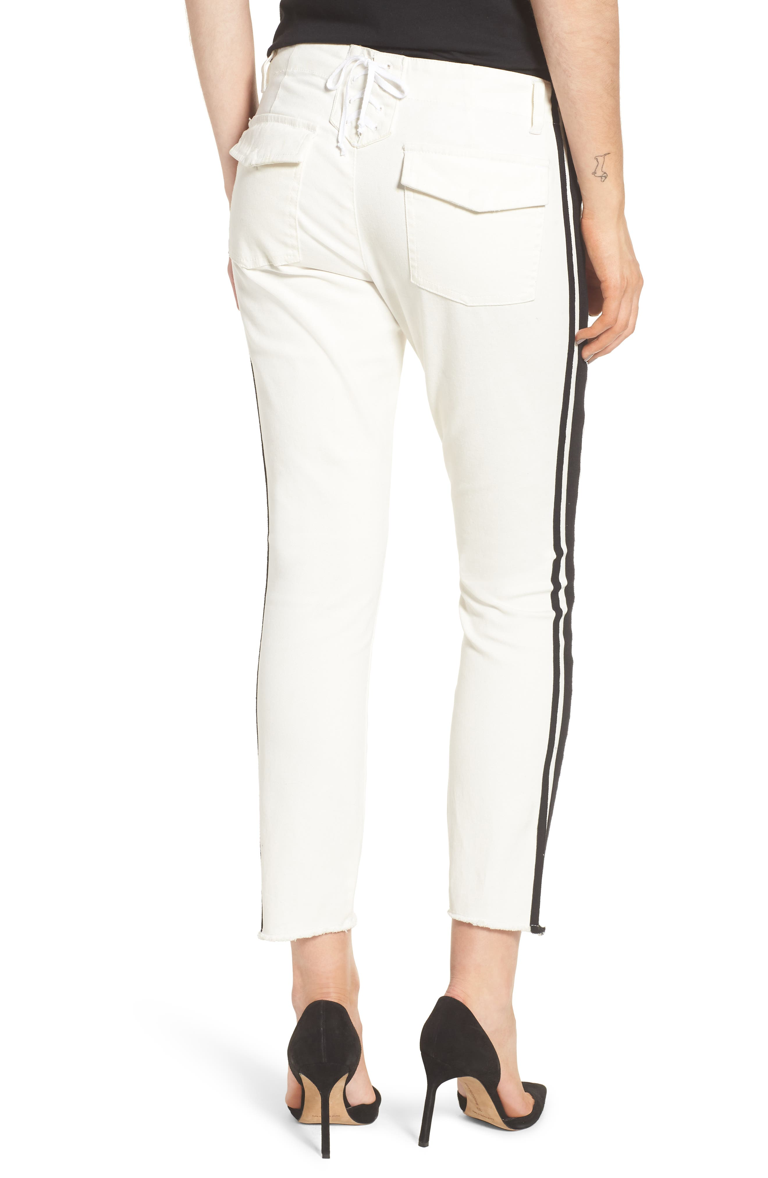 Offset Skinny Pants,                             Alternate thumbnail 2, color,                             WHITE