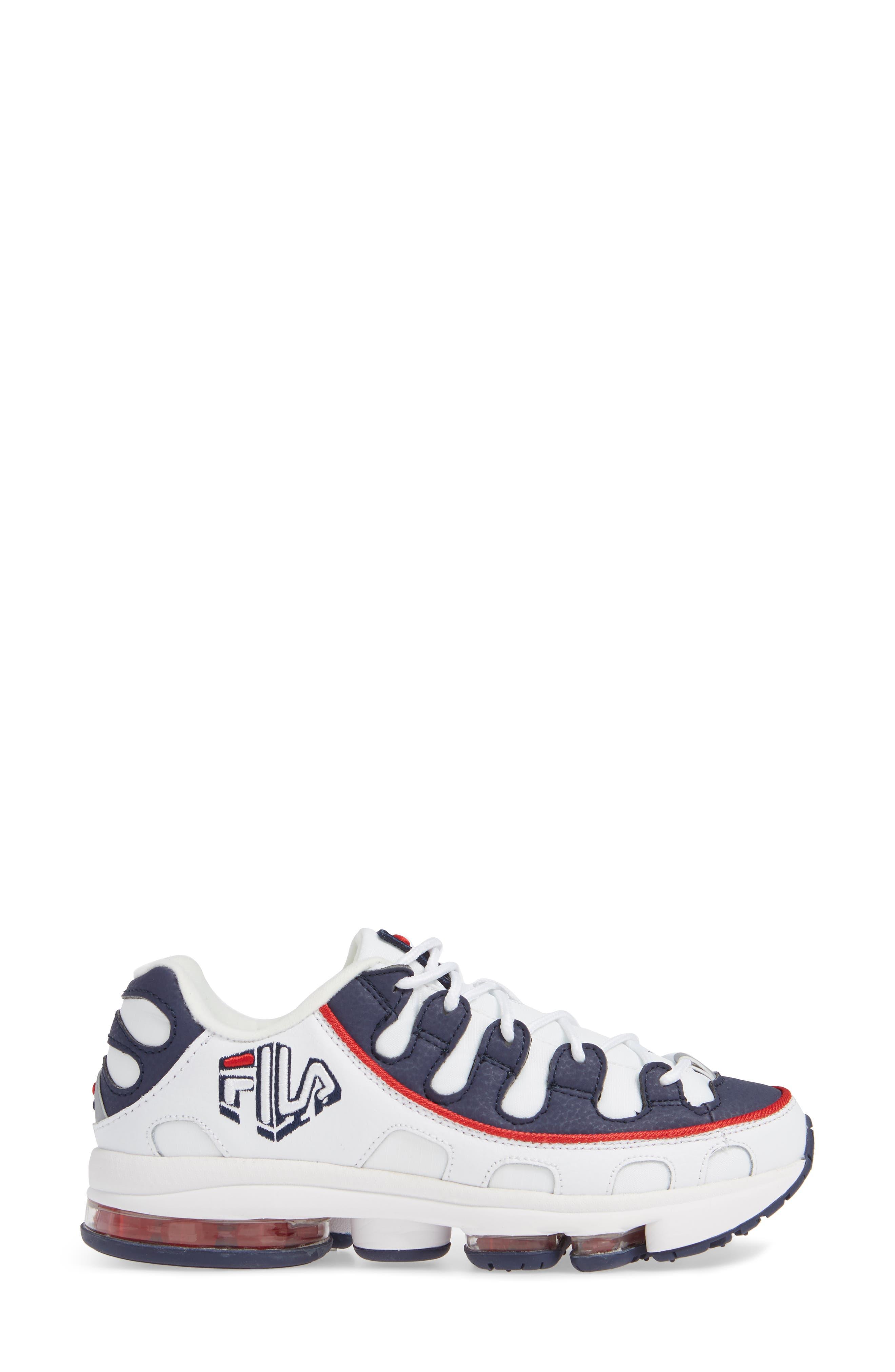 Silva Trainer Sneaker,                             Alternate thumbnail 3, color,                             WHITE/ NAVY/ RED