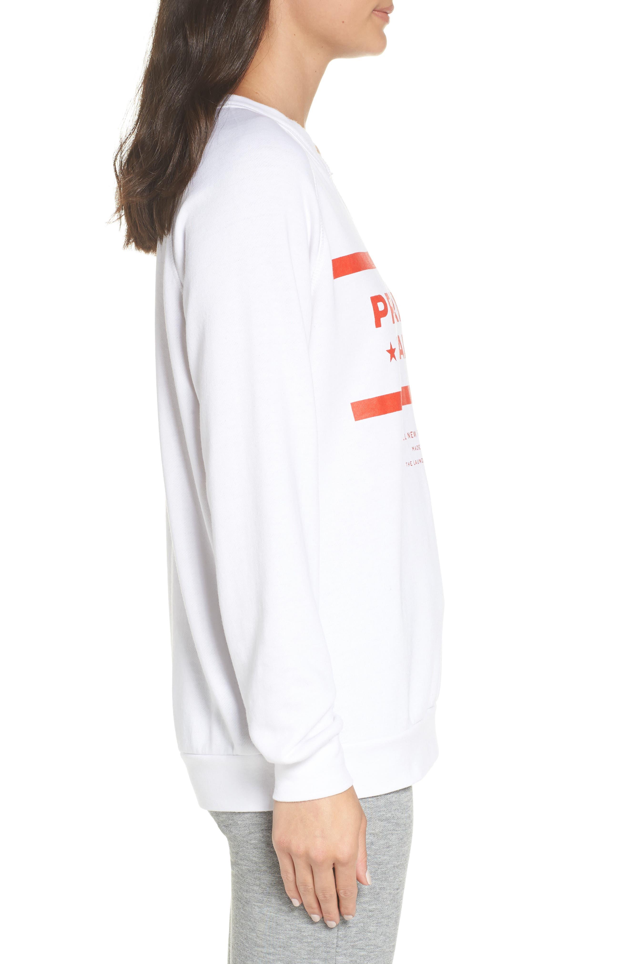 Priority Female Sweatshirt,                             Alternate thumbnail 3, color,                             WHITE