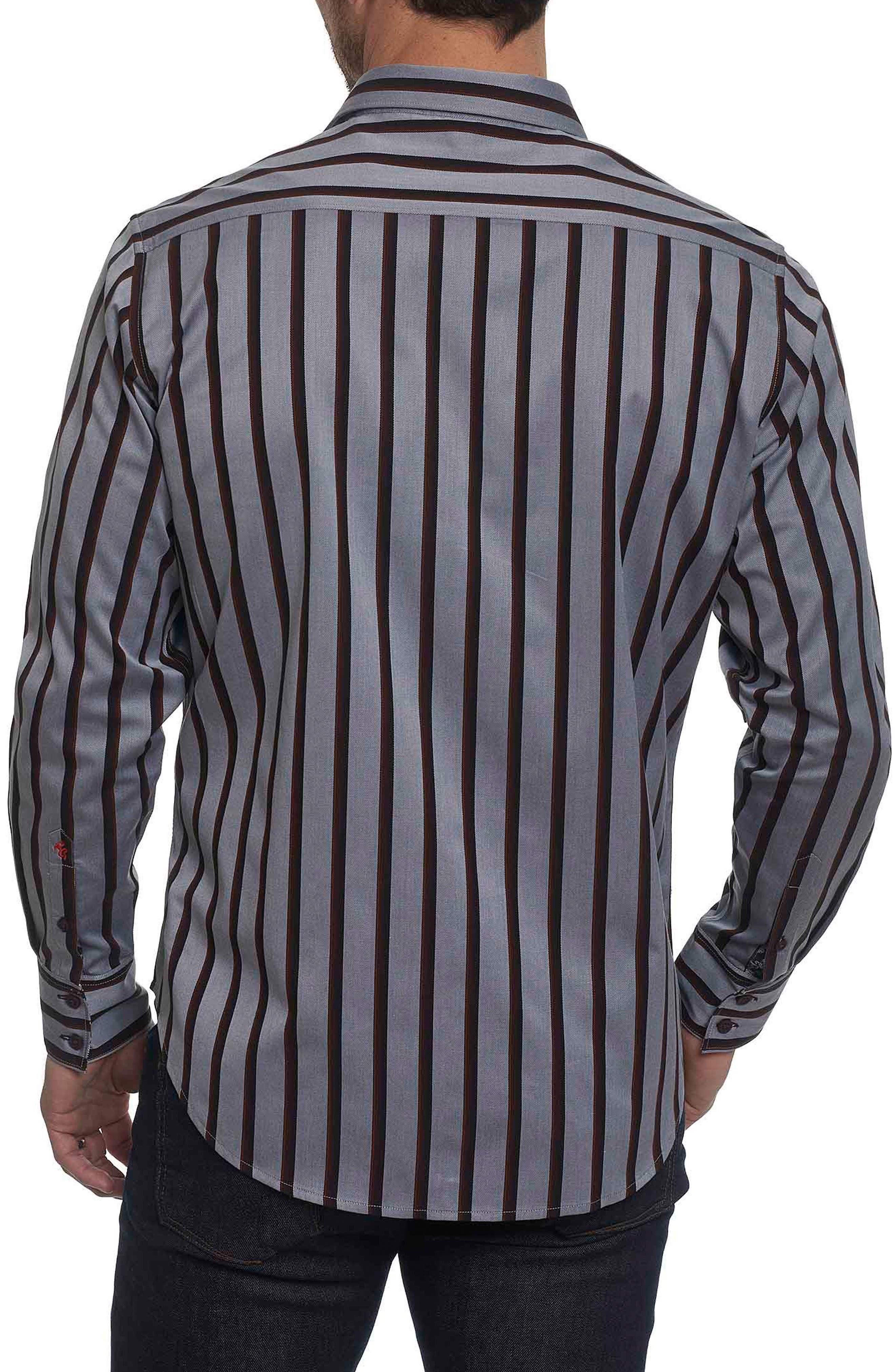 Baltica Classic Fit Stripe Sport Shirt,                             Alternate thumbnail 2, color,