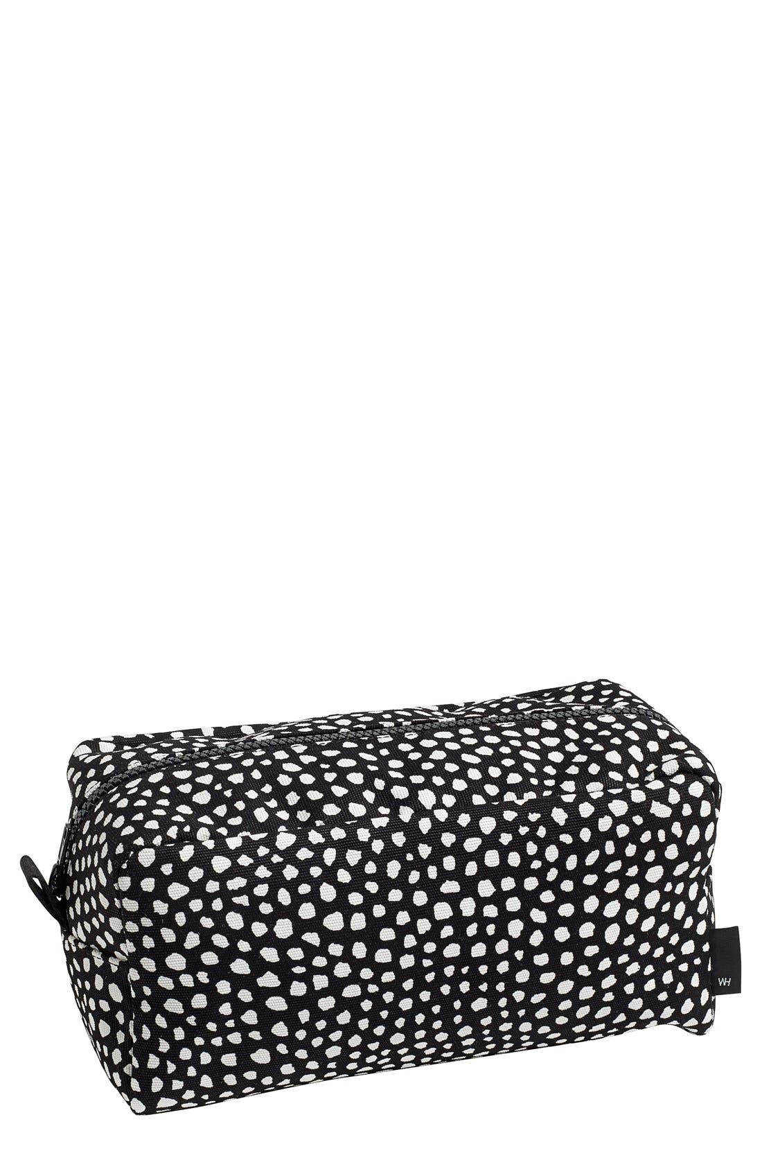 'Dot - Large' Wash Bag,                             Main thumbnail 1, color,                             001
