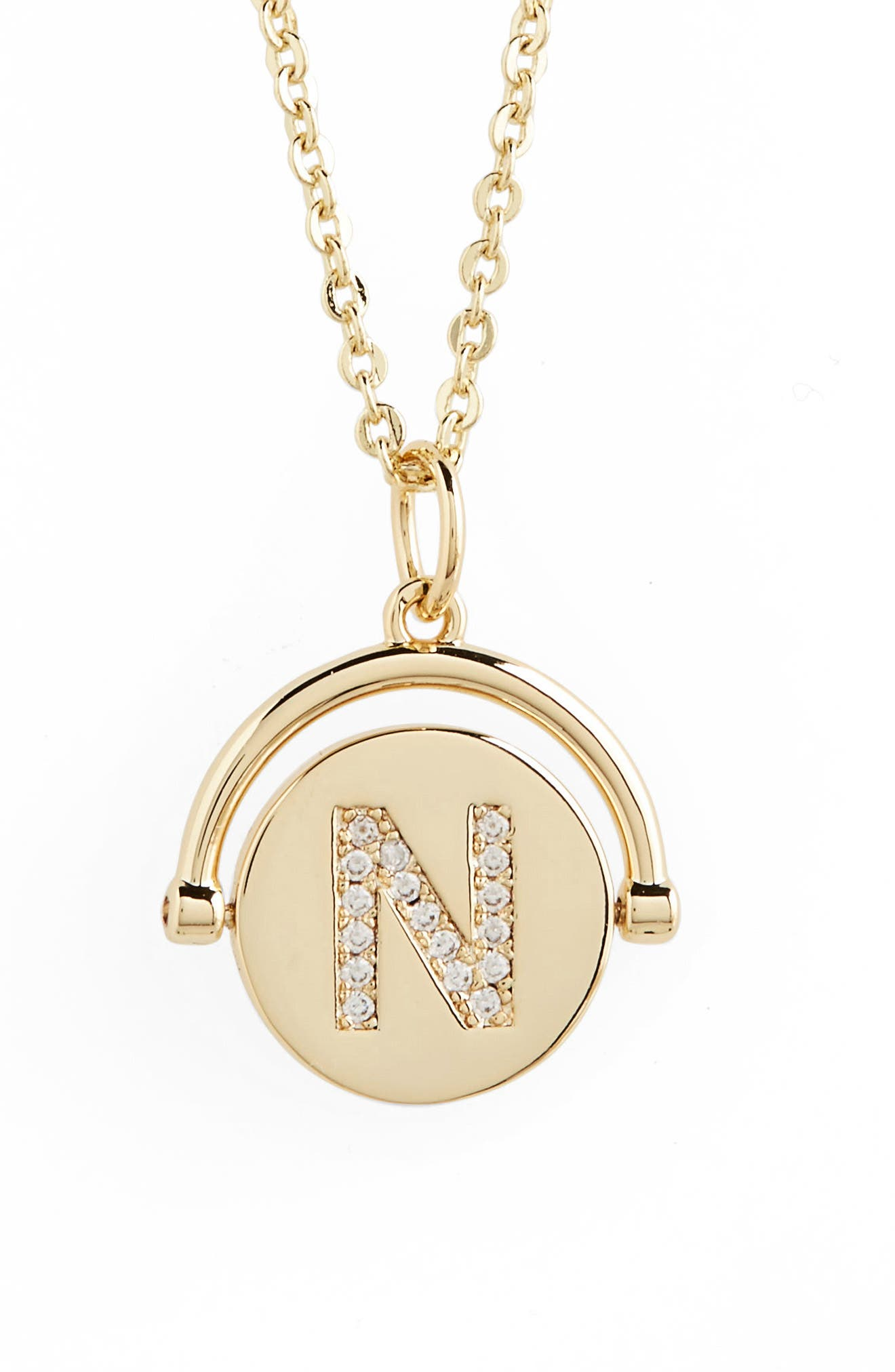 Love Letters Spinning Initial Necklace,                         Main,                         color, 722