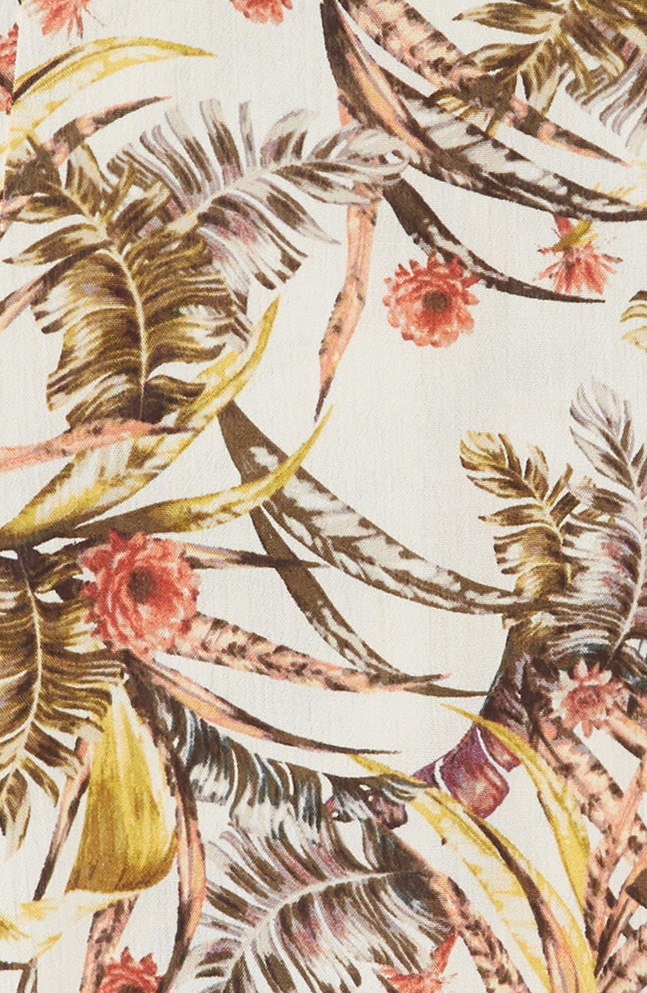 Dreamer Tropical Print Dress,                             Alternate thumbnail 3, color,                             250