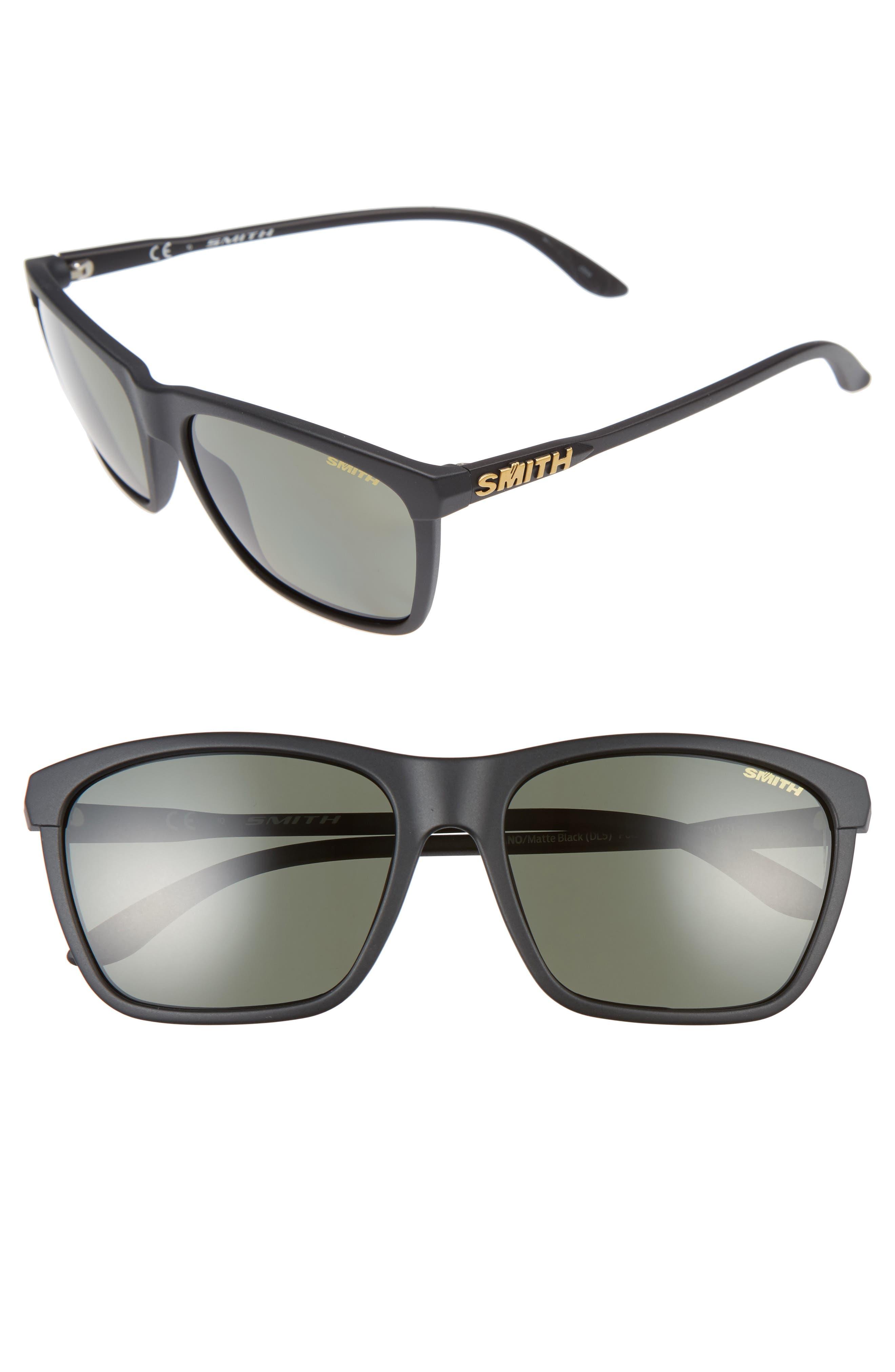 Delano 57mm Sunglasses,                             Main thumbnail 1, color,                             001