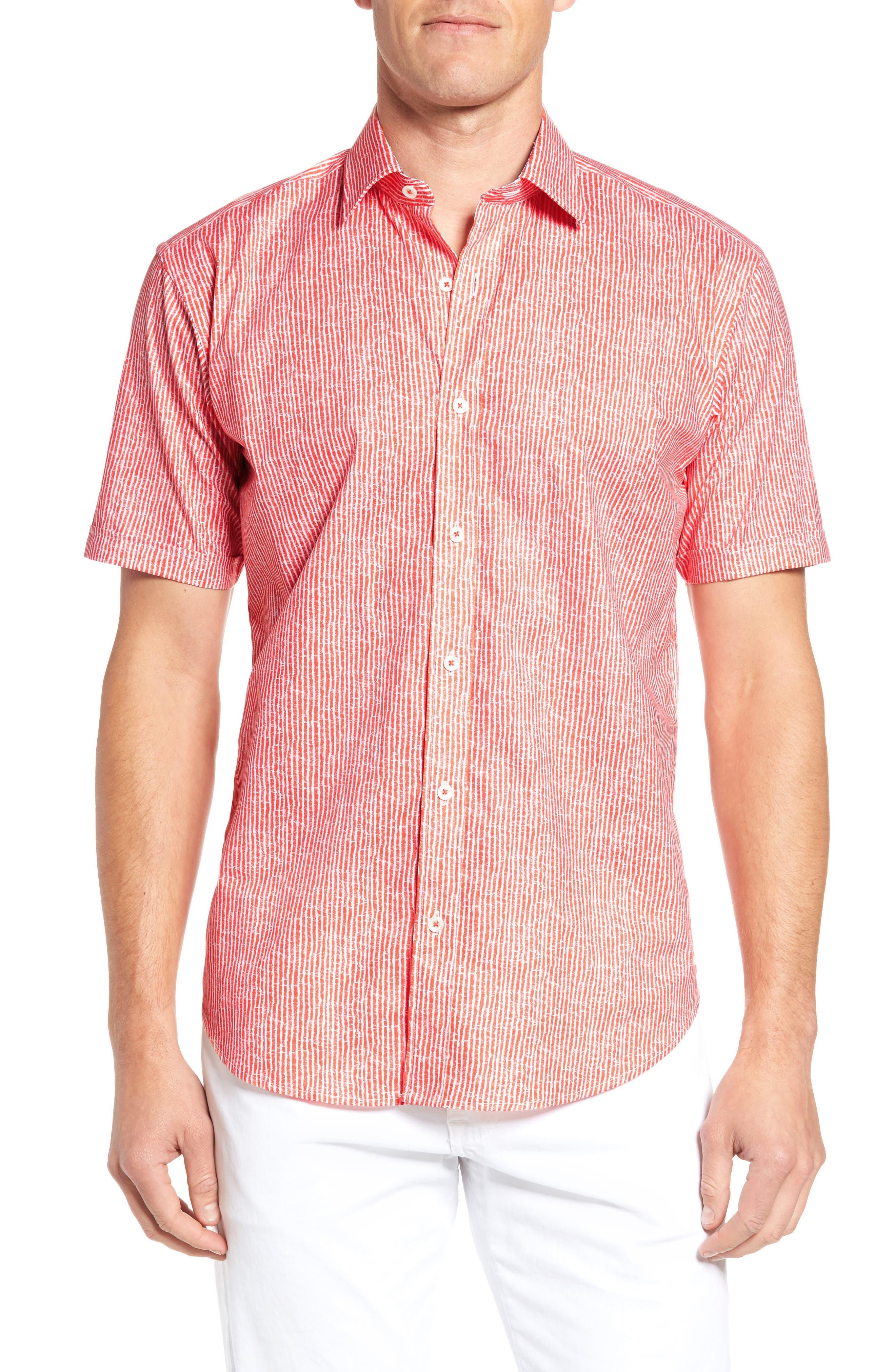 Shaped Fit Stripe Sport Shirt,                             Main thumbnail 2, color,