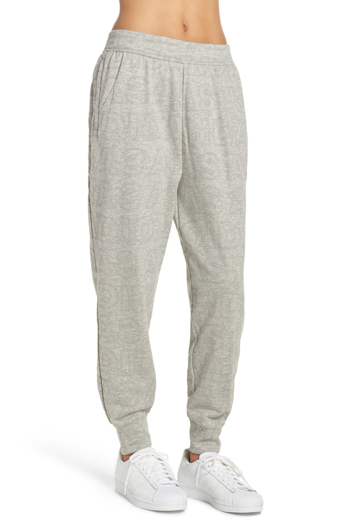 ADIDAS,                             Boyfriend Lounge Pants,                             Alternate thumbnail 3, color,                             035