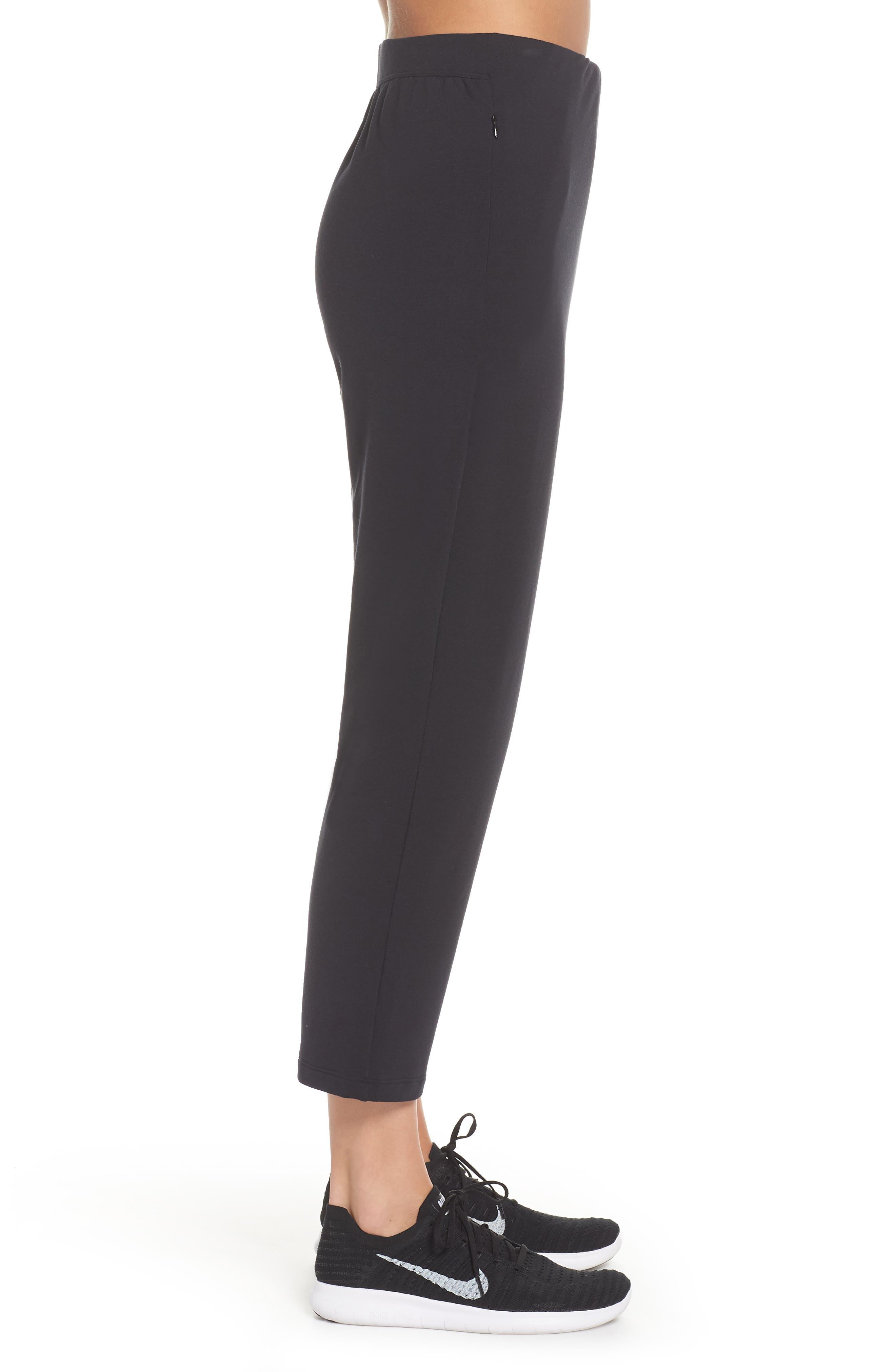 NIKE,                             Dry Studio Training Pants,                             Alternate thumbnail 3, color,                             BLACK/ BLACK
