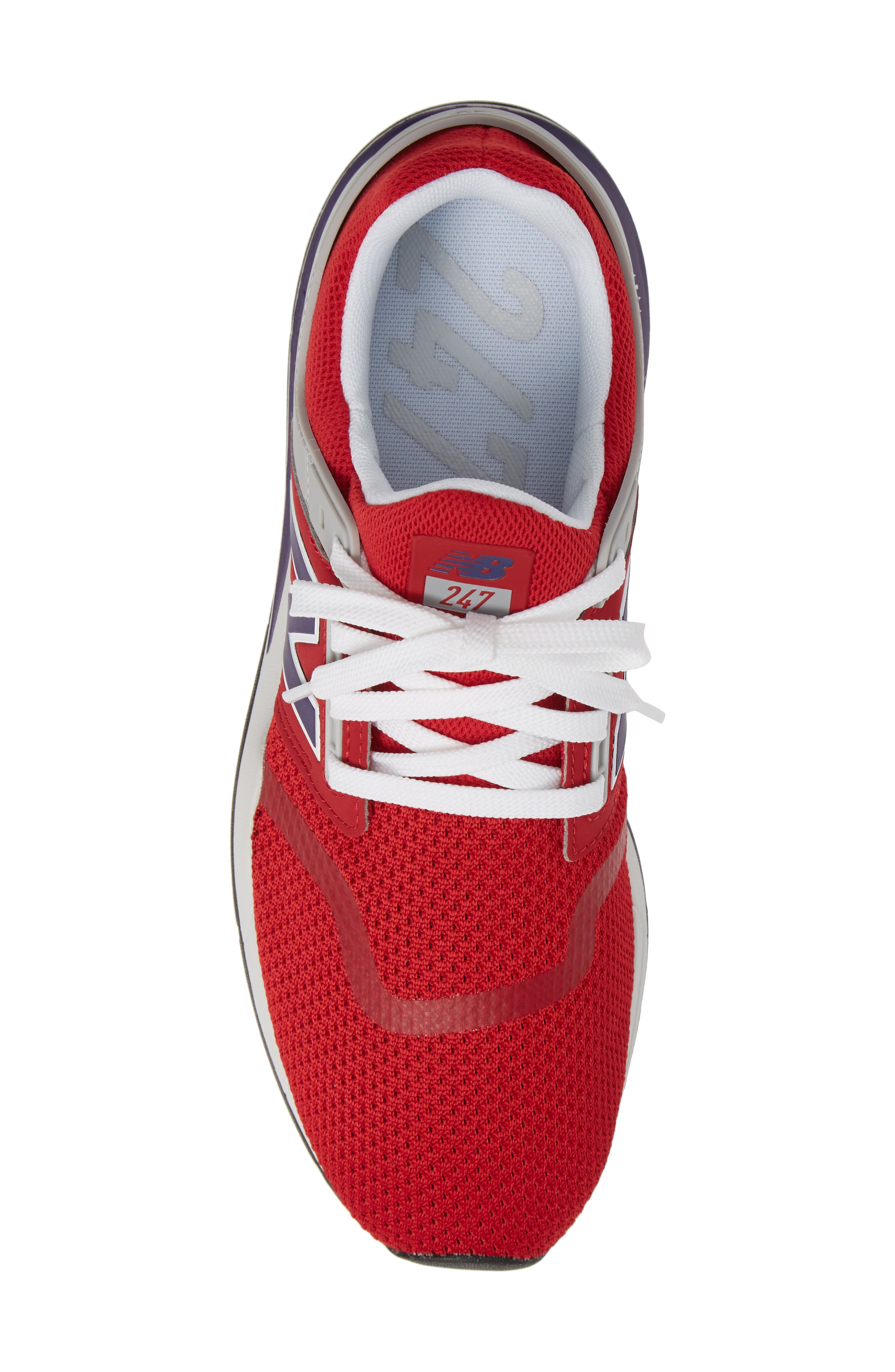 247 Sneaker,                             Alternate thumbnail 5, color,                             TANGO RED SYNTHETIC/ MESH