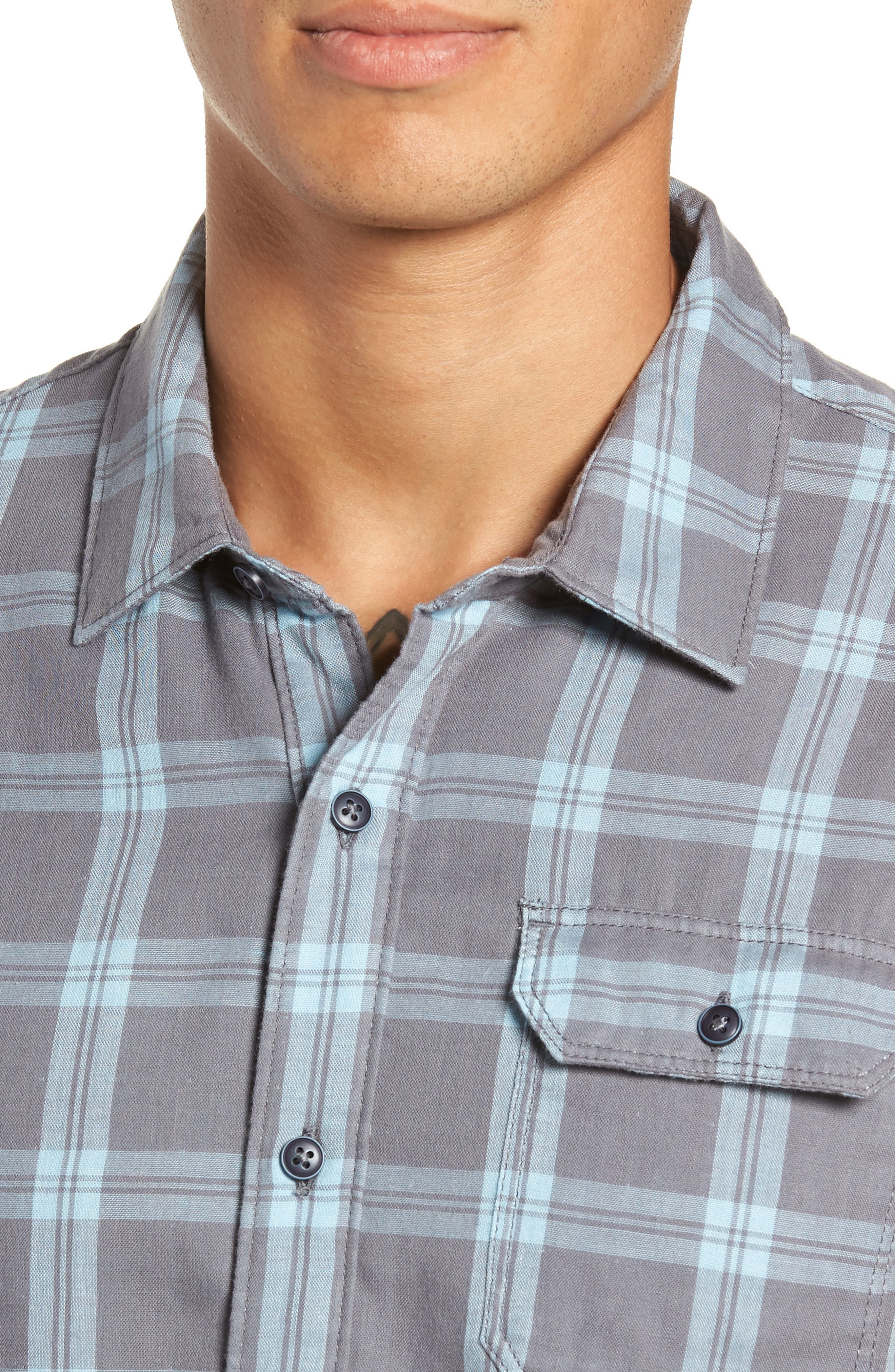 Thomas Regular Fit Check Sport Shirt,                             Alternate thumbnail 2, color,                             QUITE SHADE