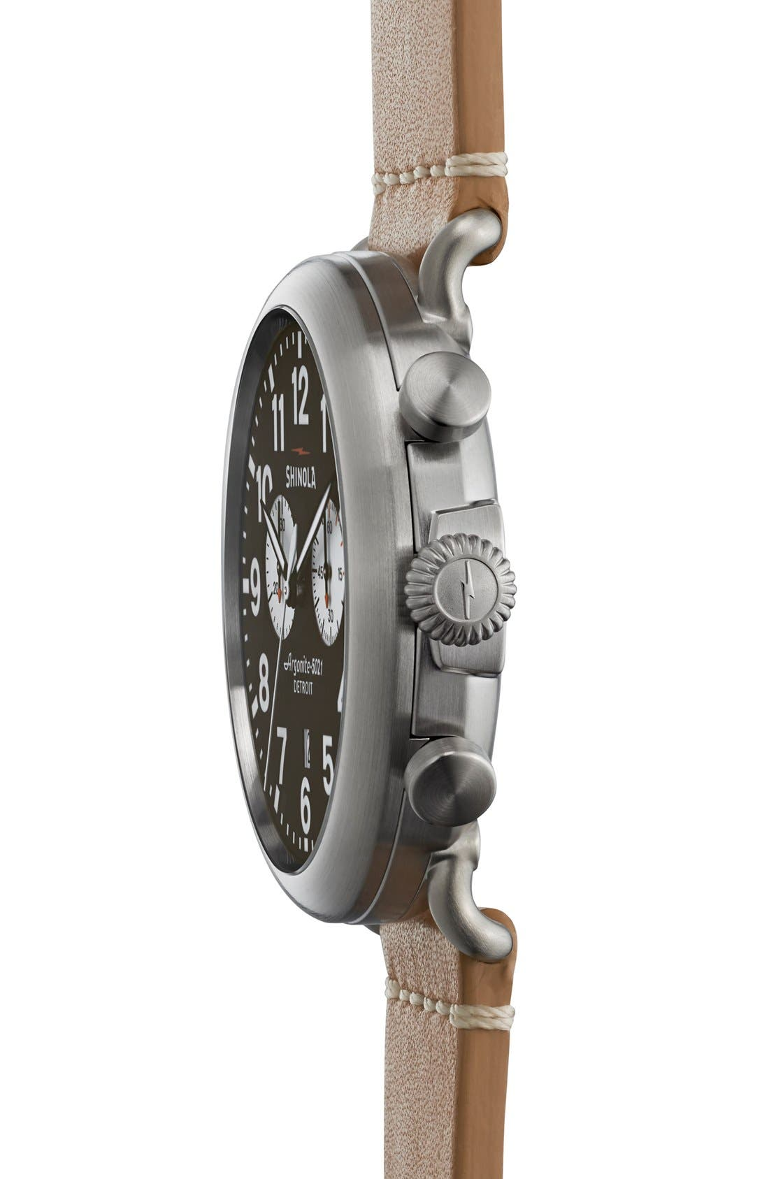 The Runwell Chrono Leather Strap Watch, 47mm,                             Alternate thumbnail 43, color,