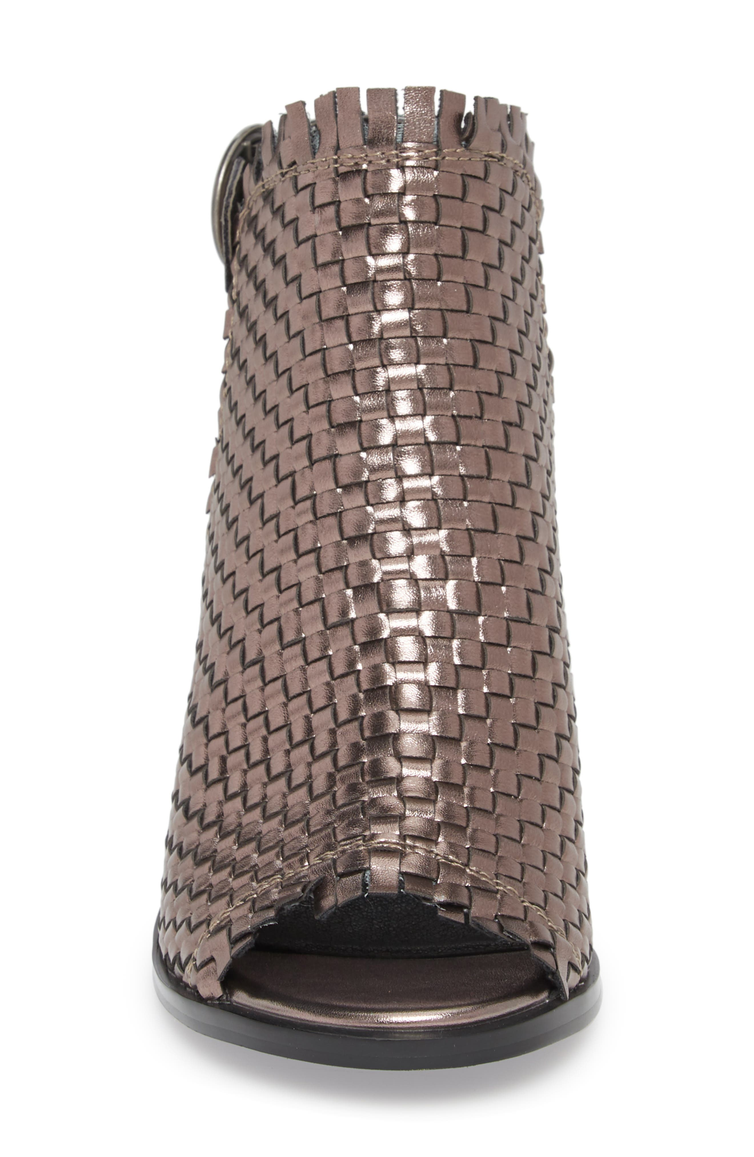 Starla Woven Sandal,                             Alternate thumbnail 4, color,                             PEWTER