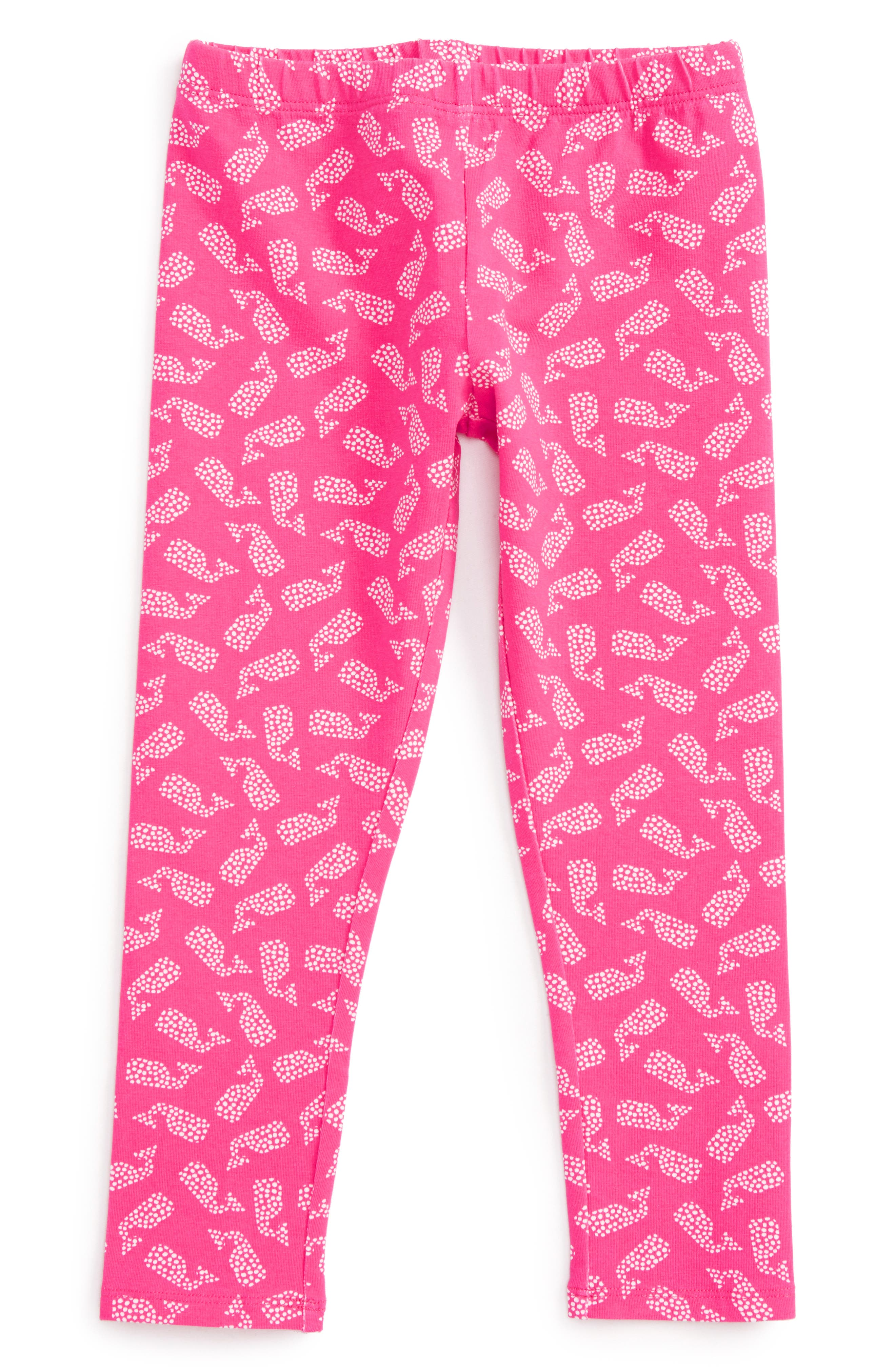 Polka Dot Whale Leggings,                         Main,                         color,
