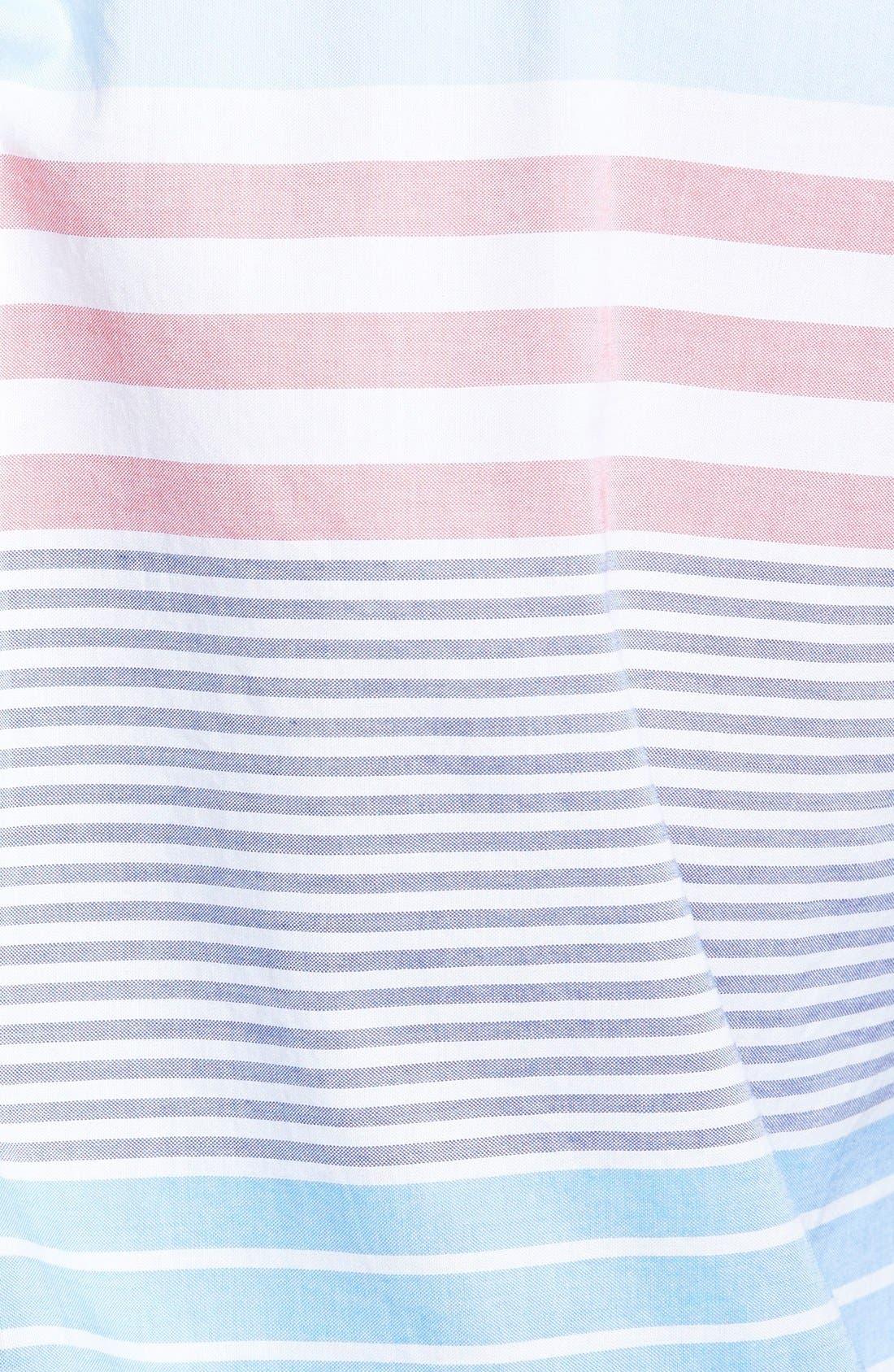 'Tucker - Oceaneer Stripe' Slim Fit Sport Shirt,                             Alternate thumbnail 3, color,                             456