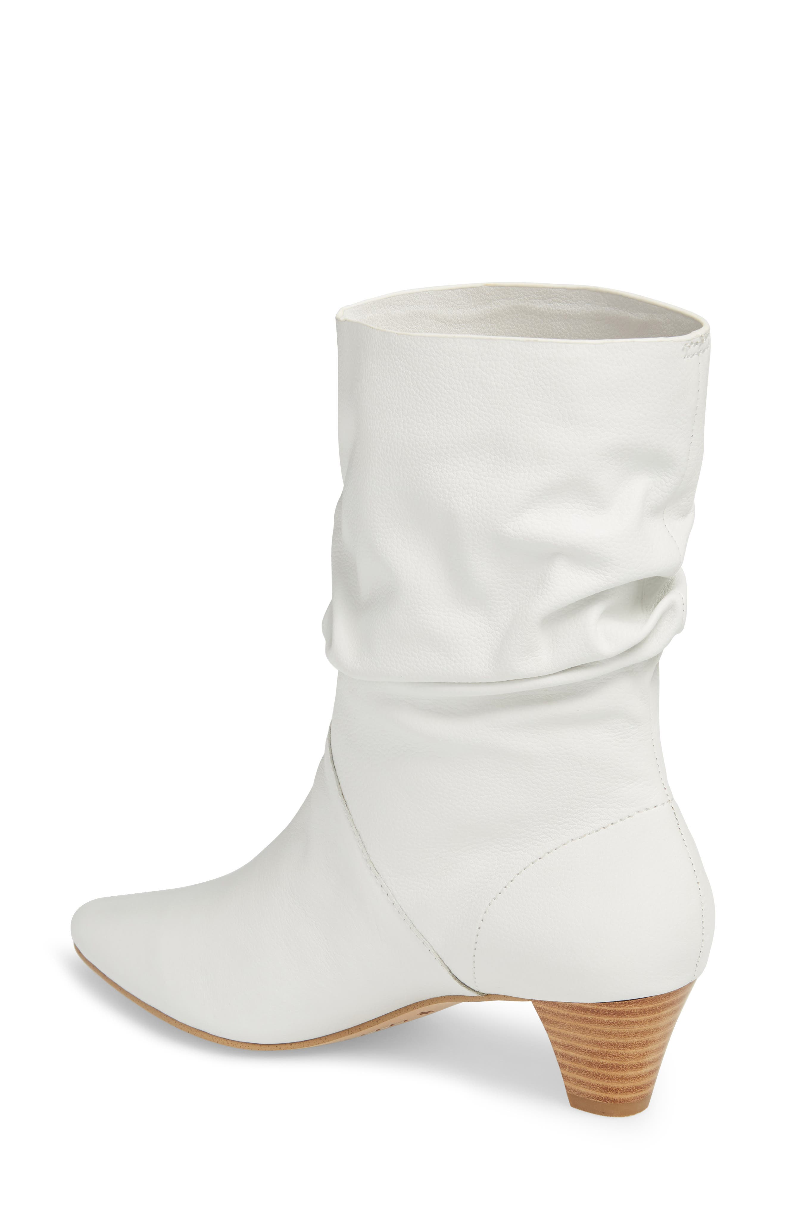 Nica Slouchy Boot,                             Alternate thumbnail 2, color,                             SNOW WHITE LEATHER