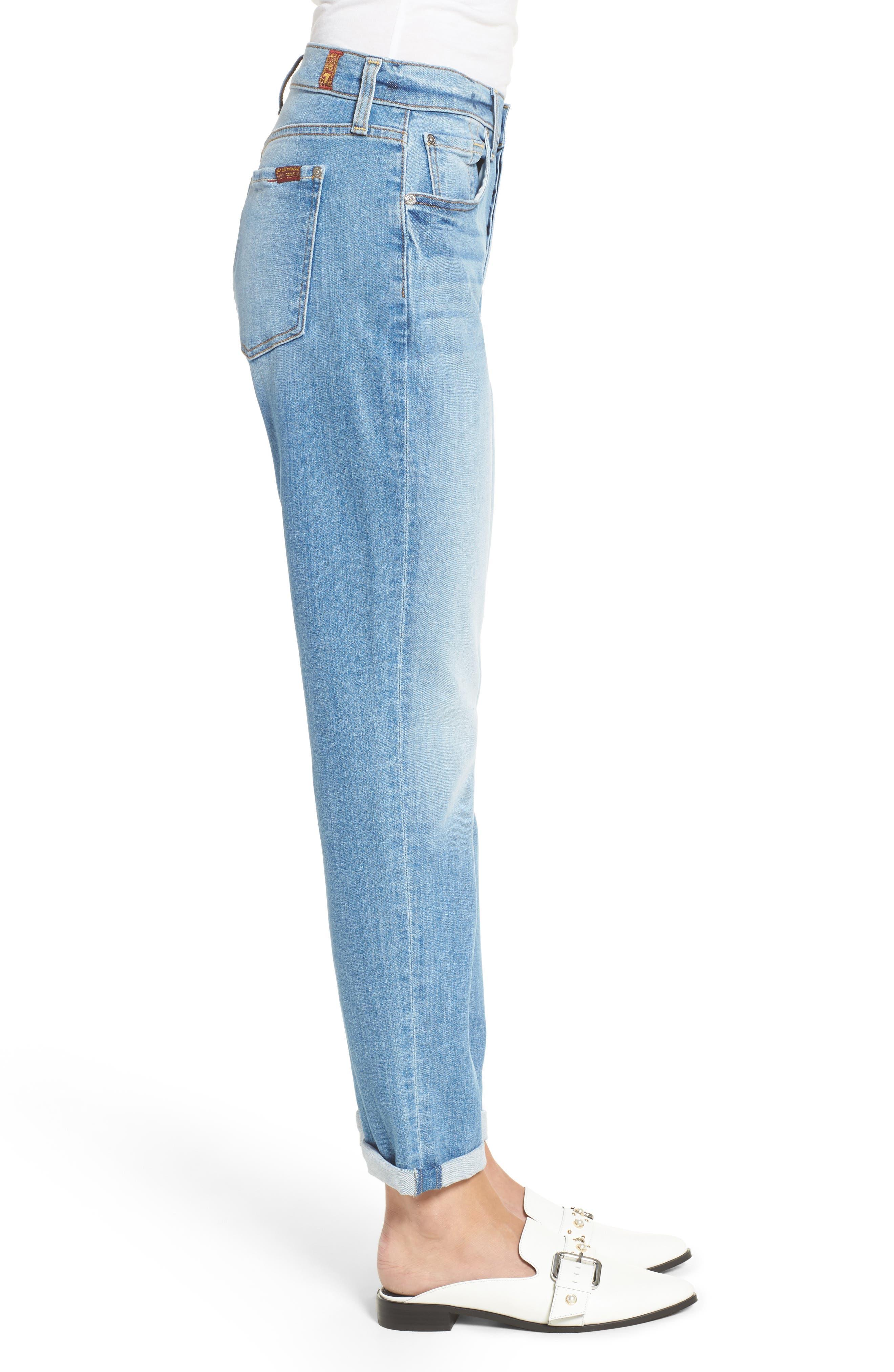 Josefina High Waist Crop Boyfriend Jeans,                             Alternate thumbnail 3, color,                             400