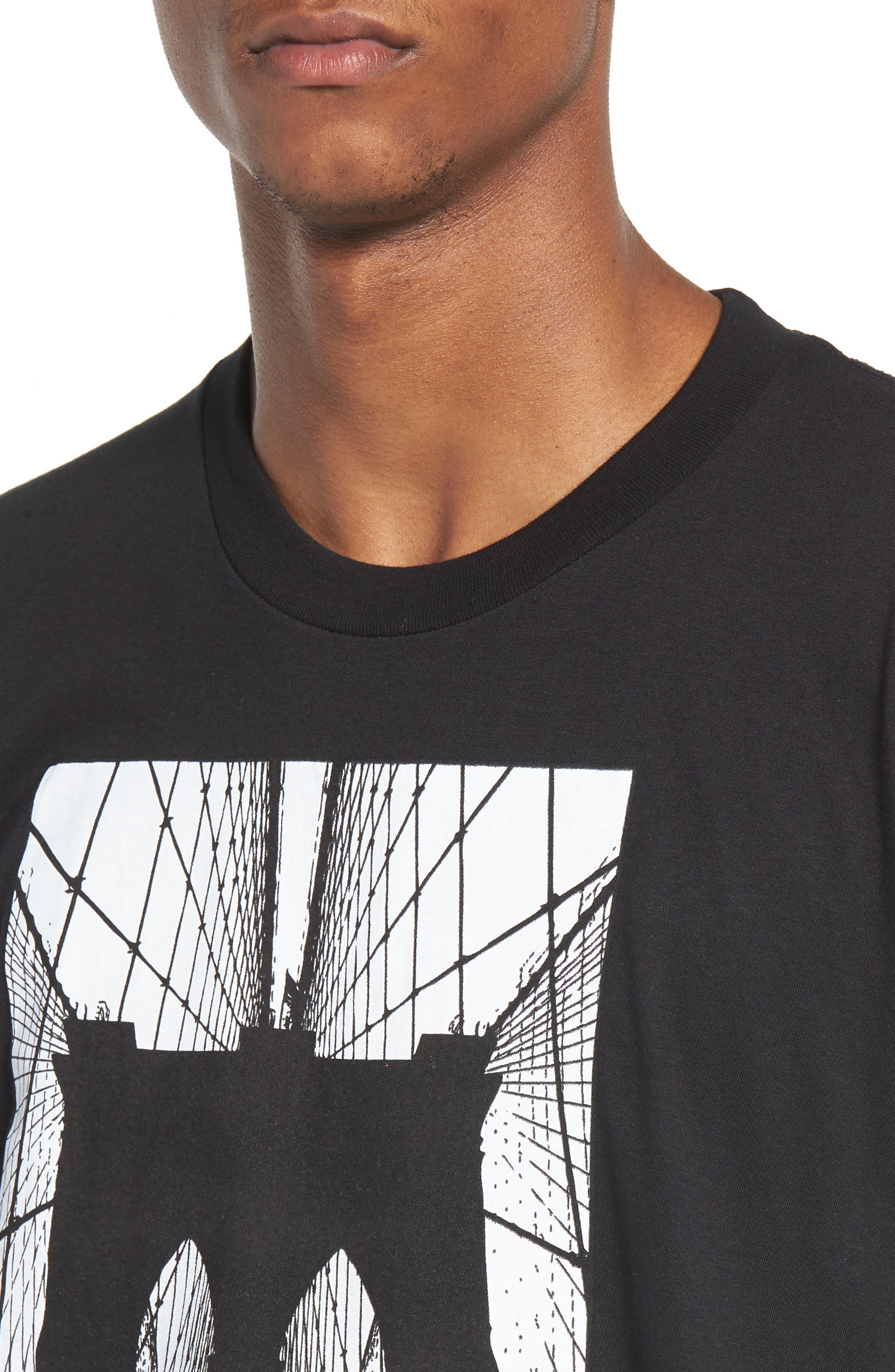 Brooklyn Bridge Graphic T-Shirt,                             Alternate thumbnail 7, color,