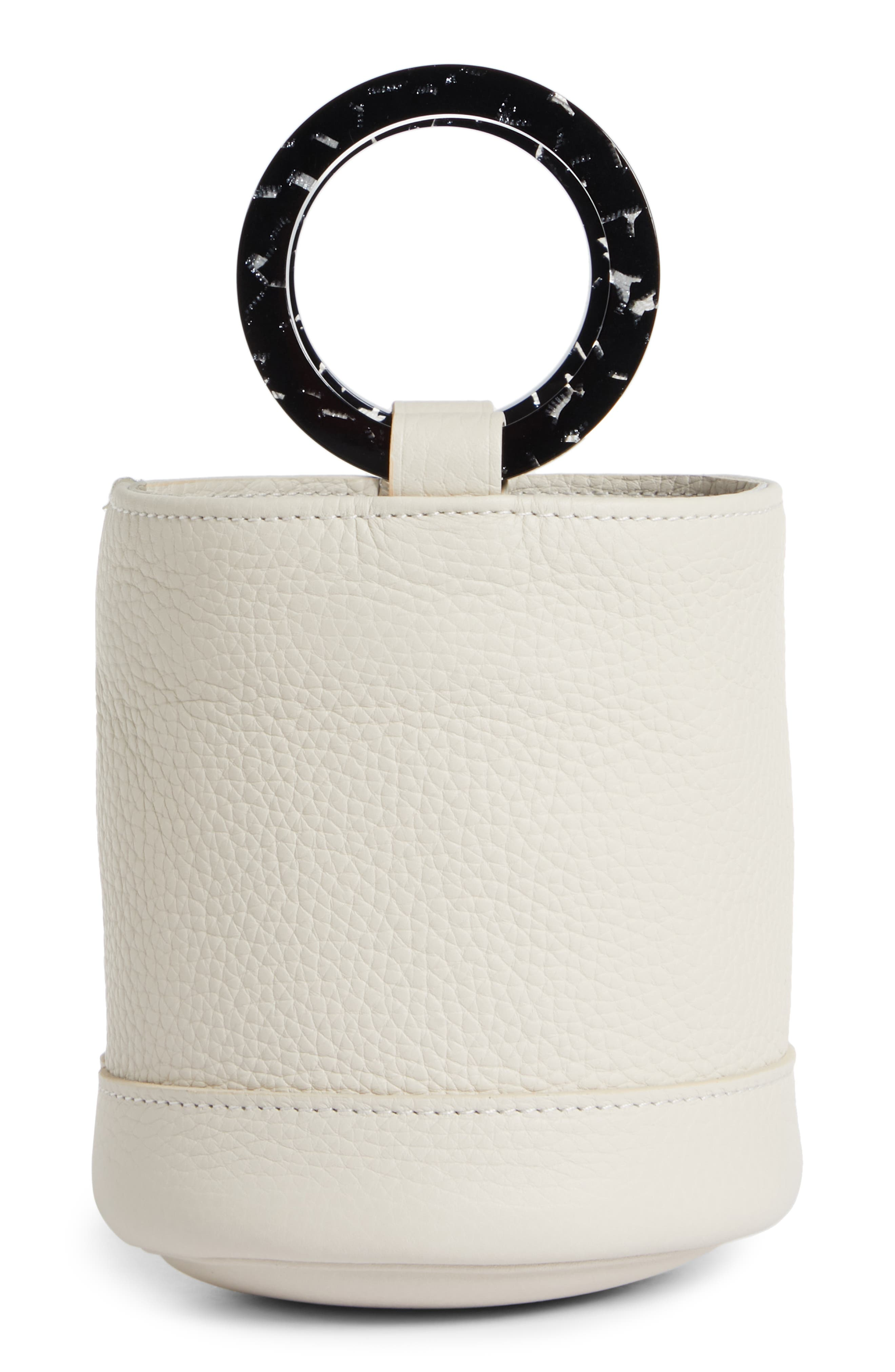 Bonsai 15 Calfskin Leather Bucket Bag,                             Alternate thumbnail 3, color,                             CLIFF