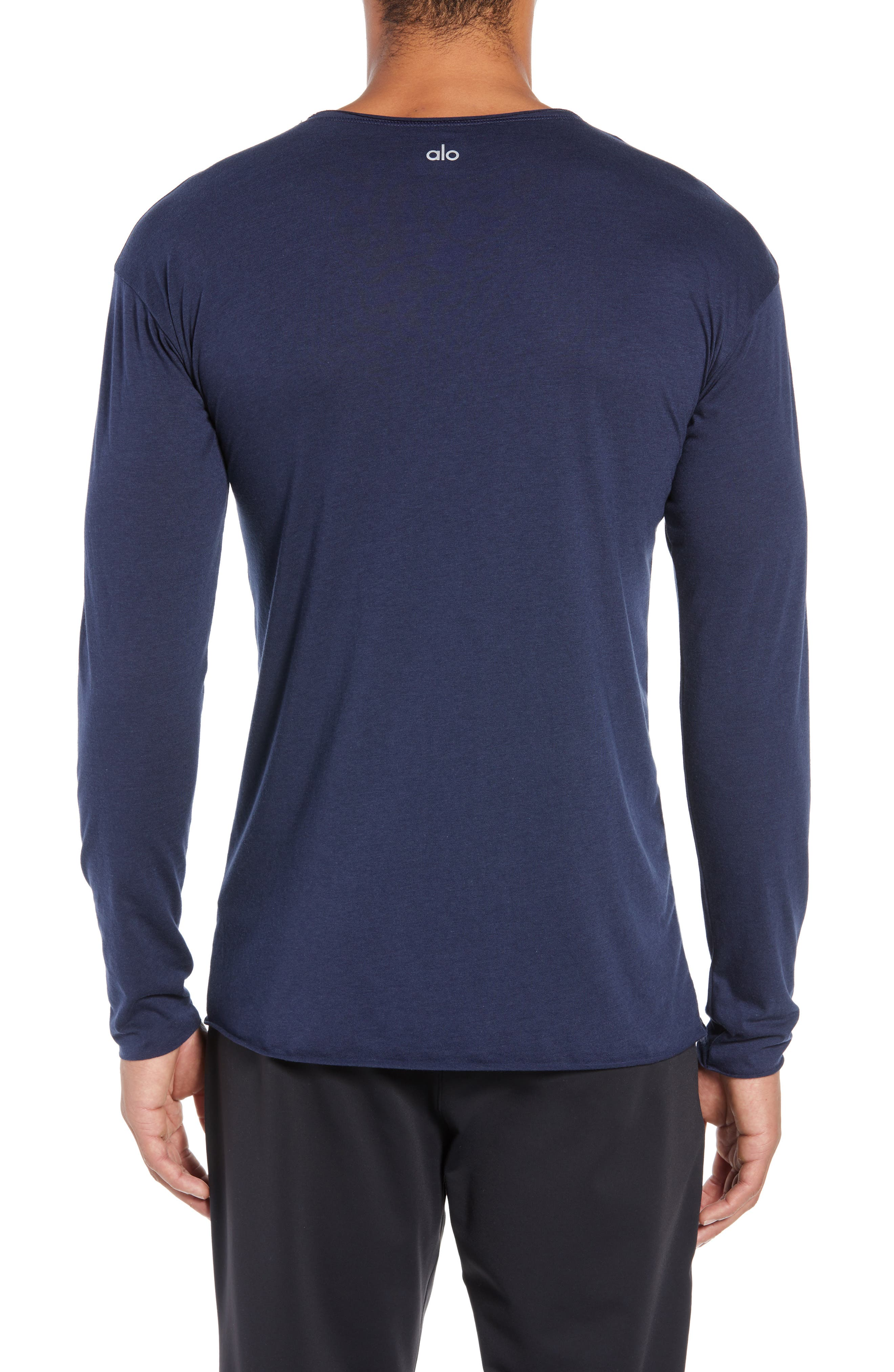 The Ultimate Long Sleeve Shirt,                             Alternate thumbnail 2, color,                             SOLID NAVY TRIBLEND