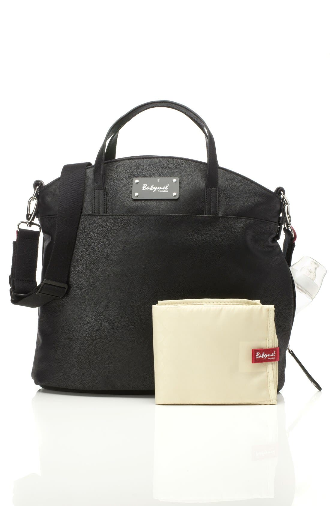'Grace' Diaper Bag,                             Alternate thumbnail 3, color,                             BLACK