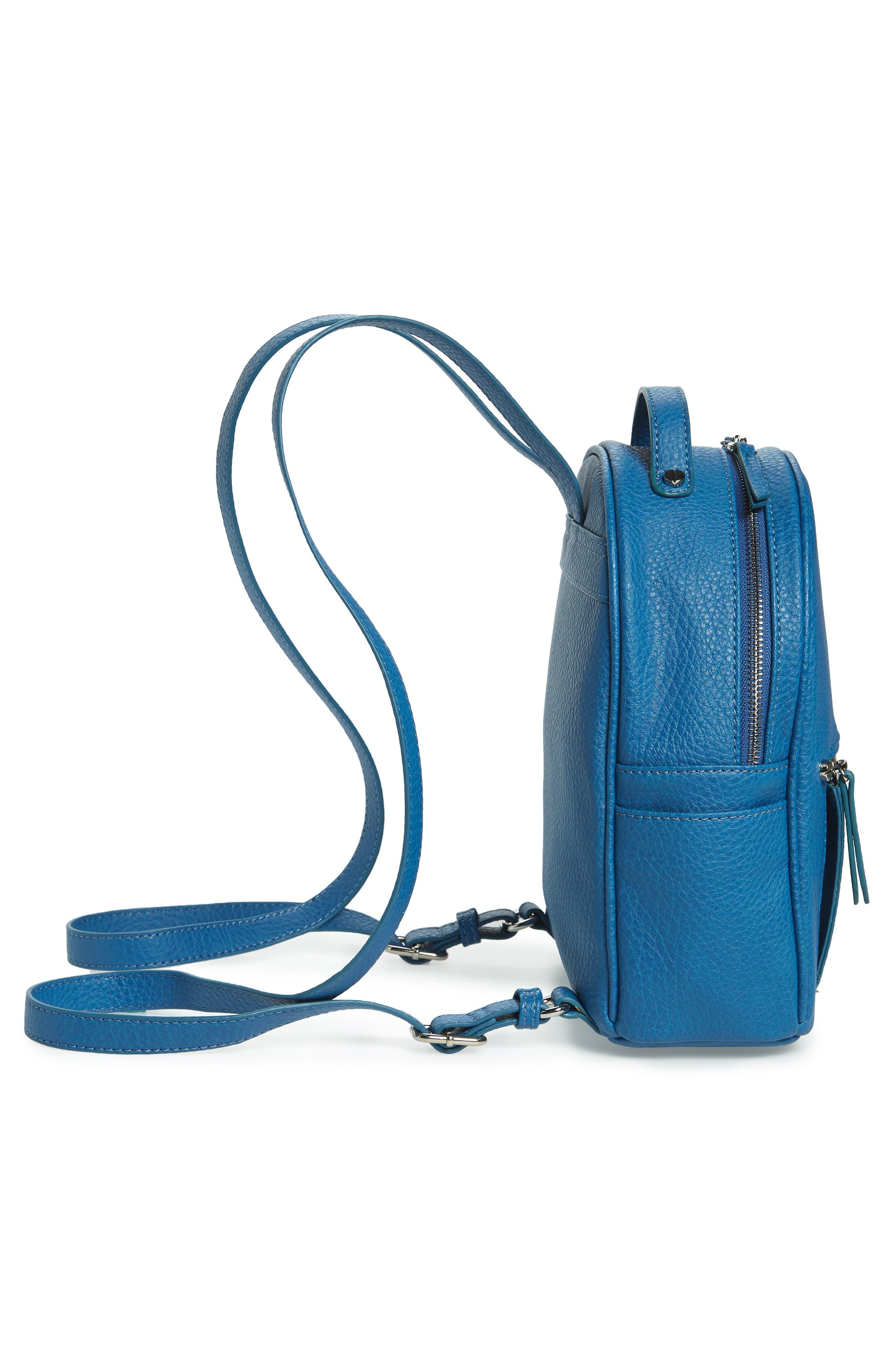 Mali + Lili Hannah Vegan Leather Backpack,                             Alternate thumbnail 5, color,                             FRENCH BLUE