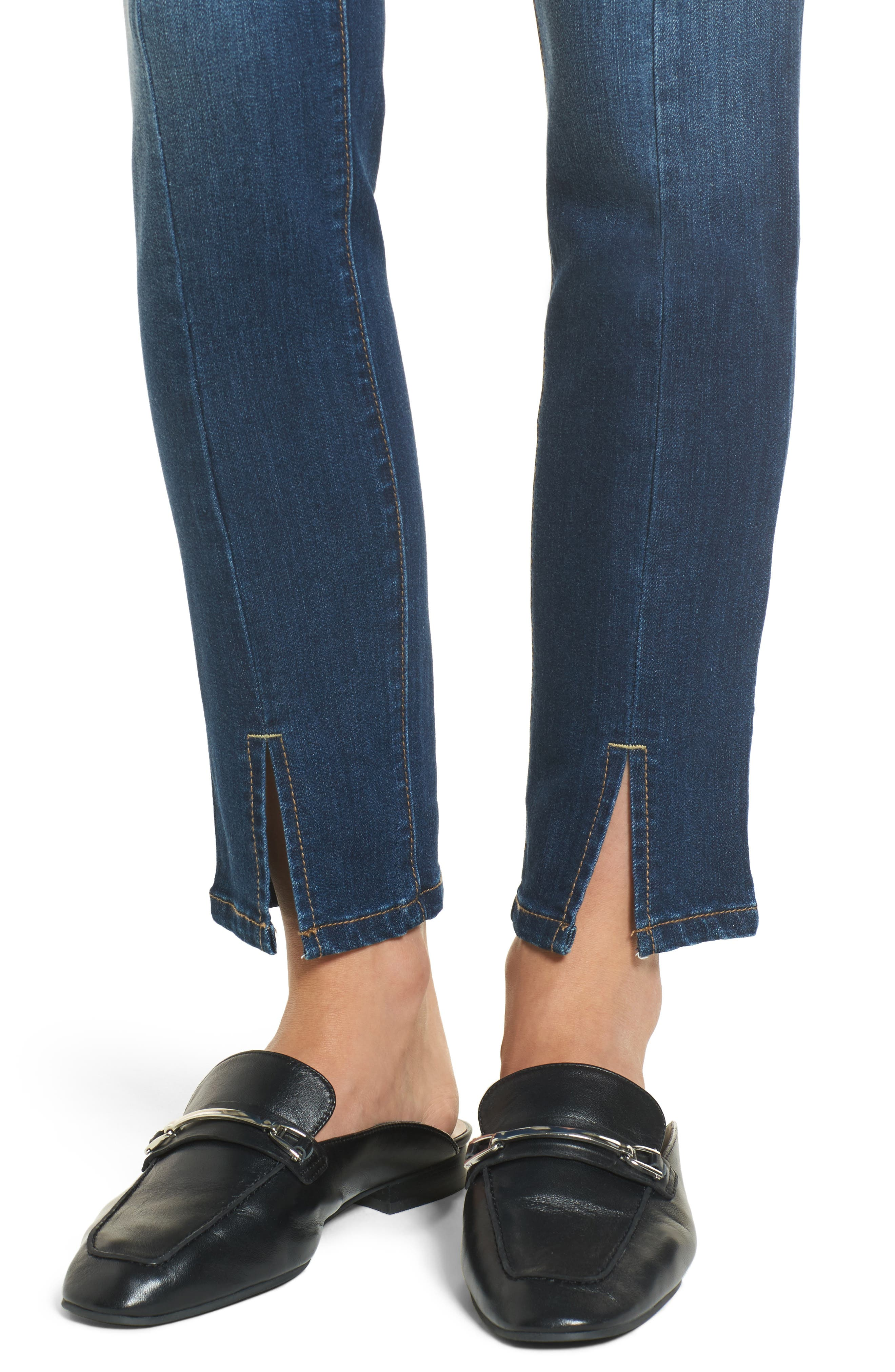 Front Seam Skinny Jeans,                             Alternate thumbnail 4, color,                             404