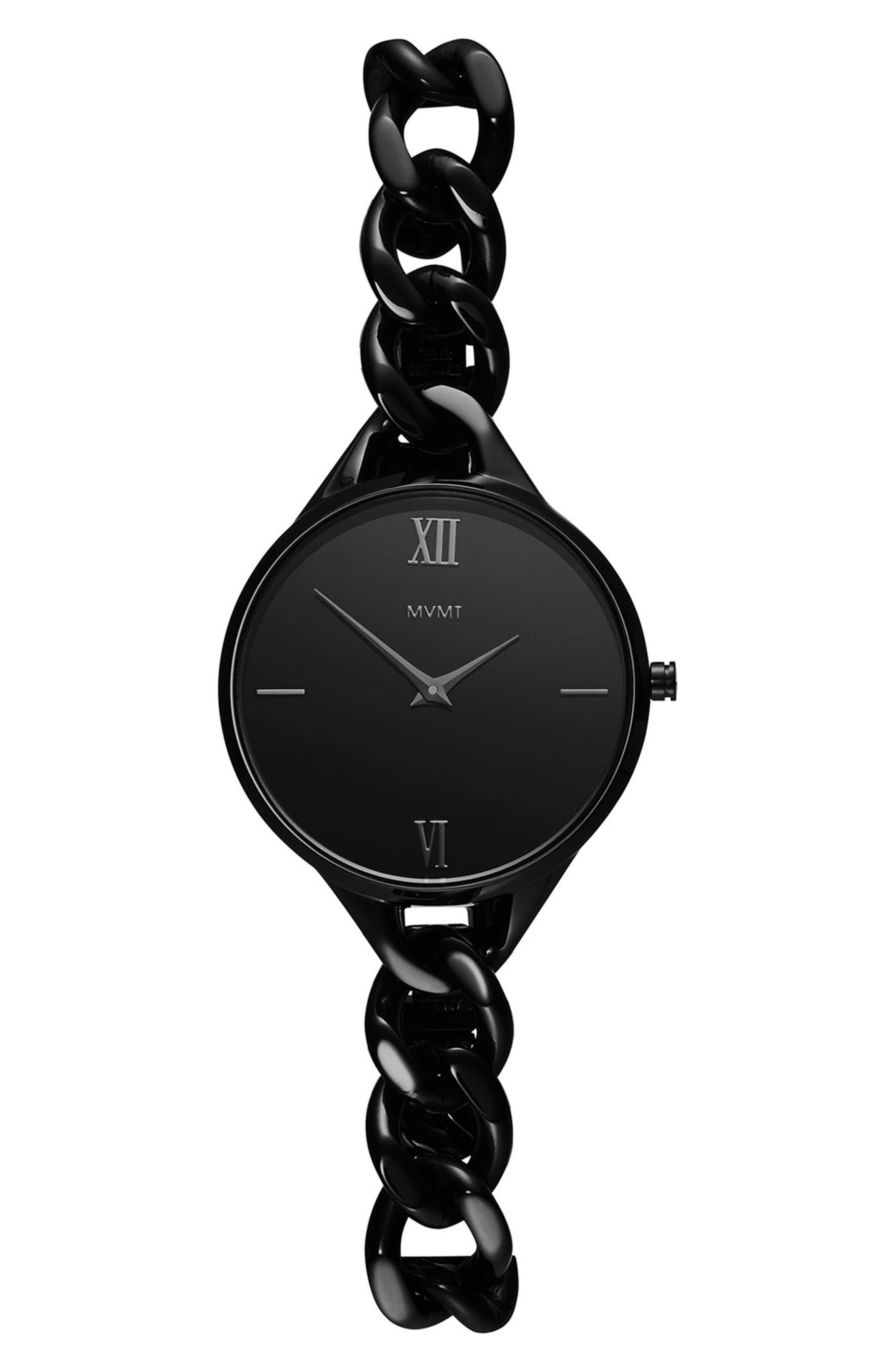 Gala Chain Bracelet Watch, 32mm,                             Main thumbnail 1, color,                             BLACK
