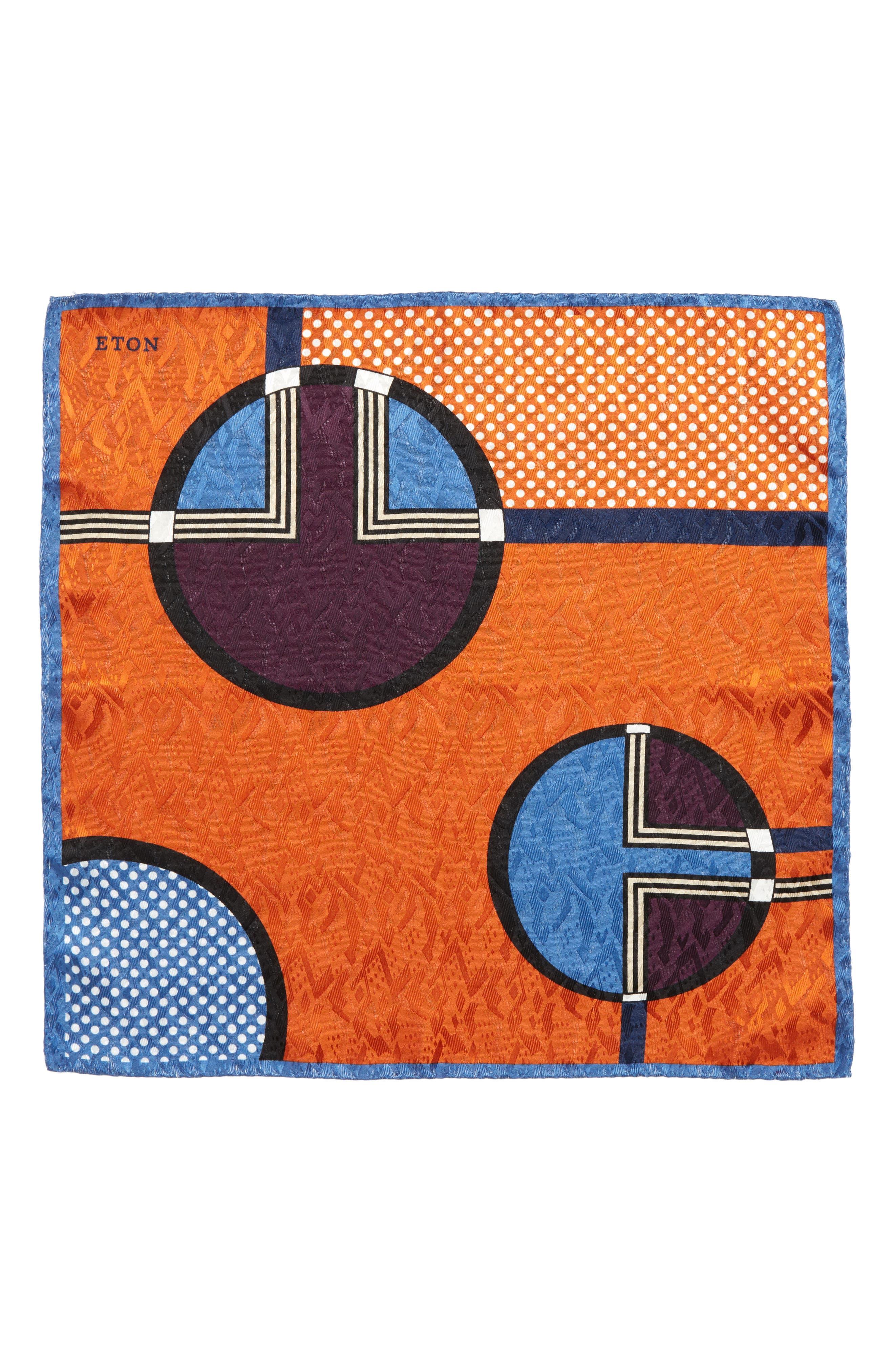 Dot Jacquard Silk Pocket Square,                             Alternate thumbnail 6, color,