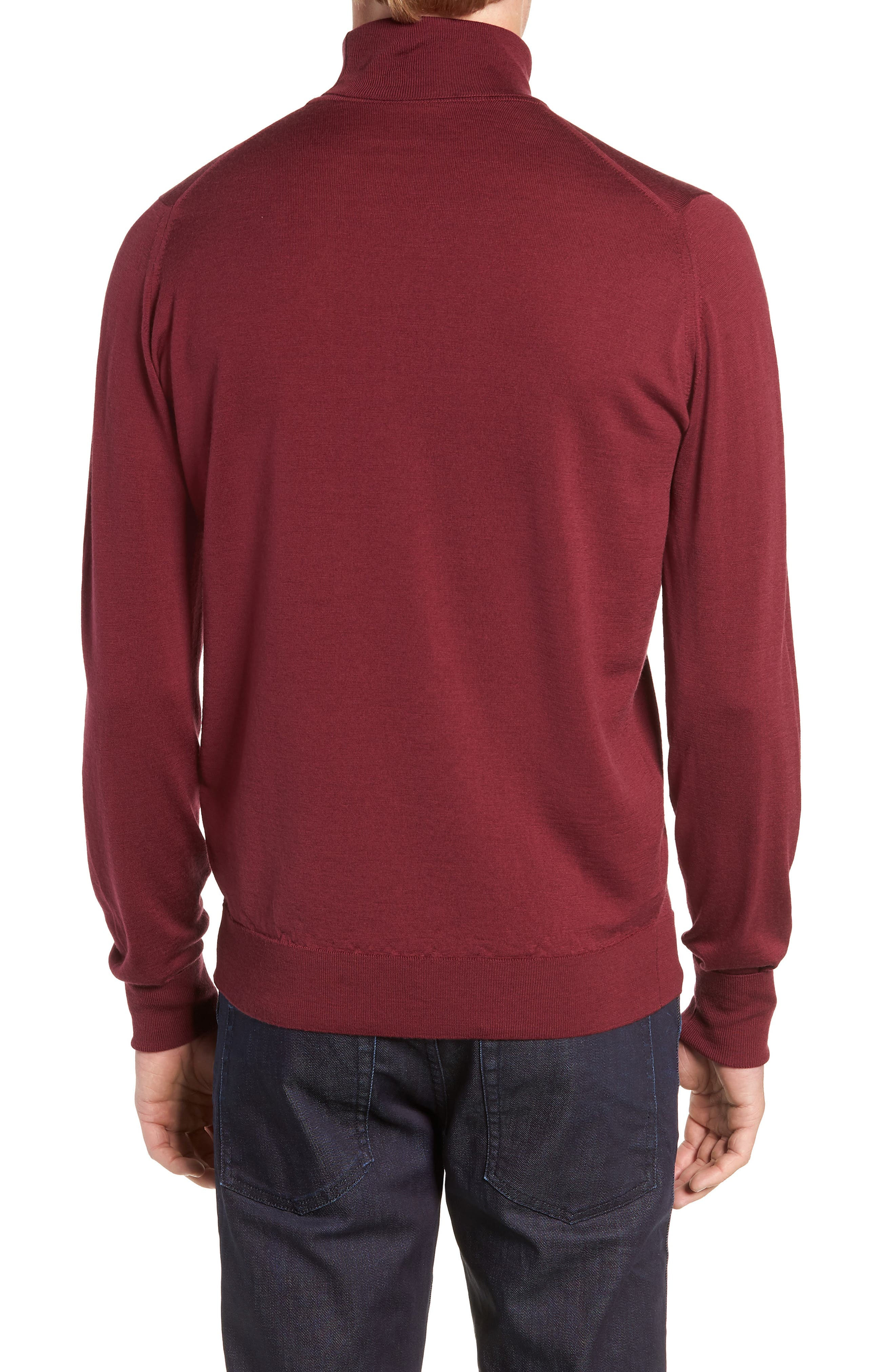 'Richards' Easy Fit Turtleneck Wool Sweater,                             Alternate thumbnail 12, color,