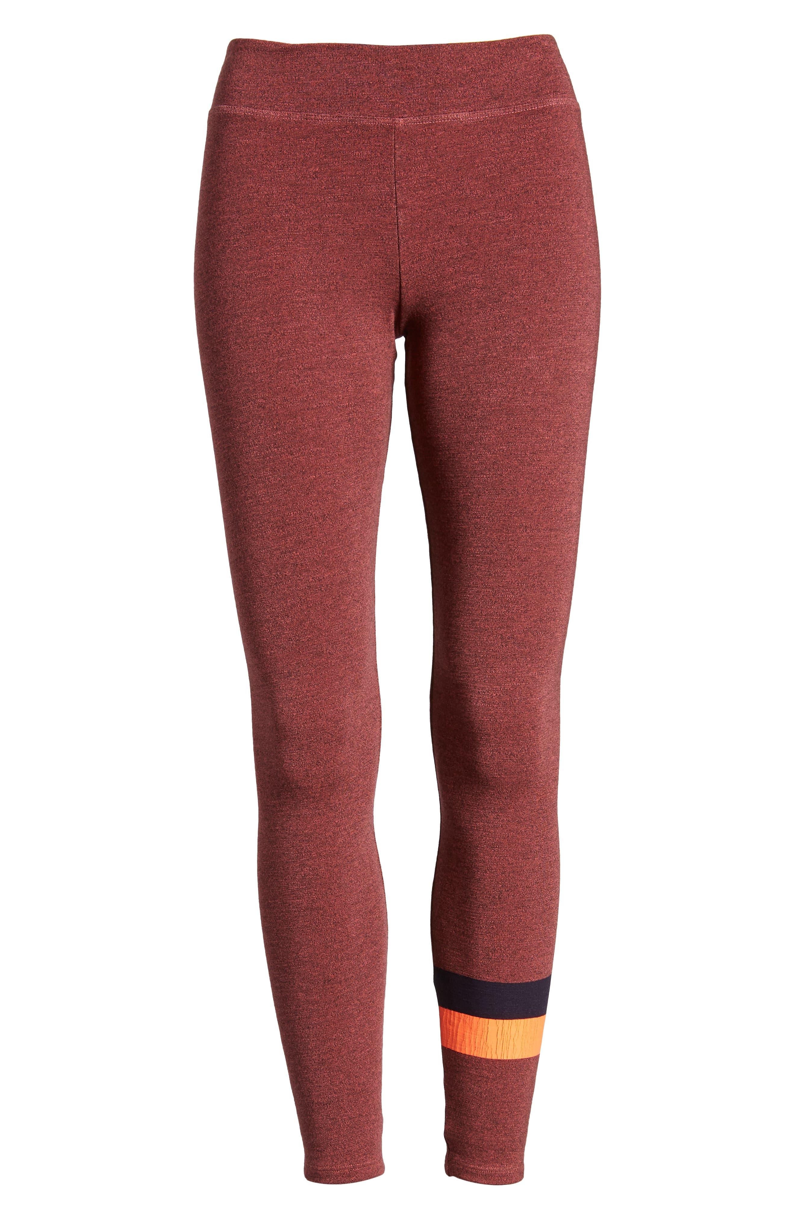 Active Stripe Yoga Pants,                             Alternate thumbnail 6, color,                             651