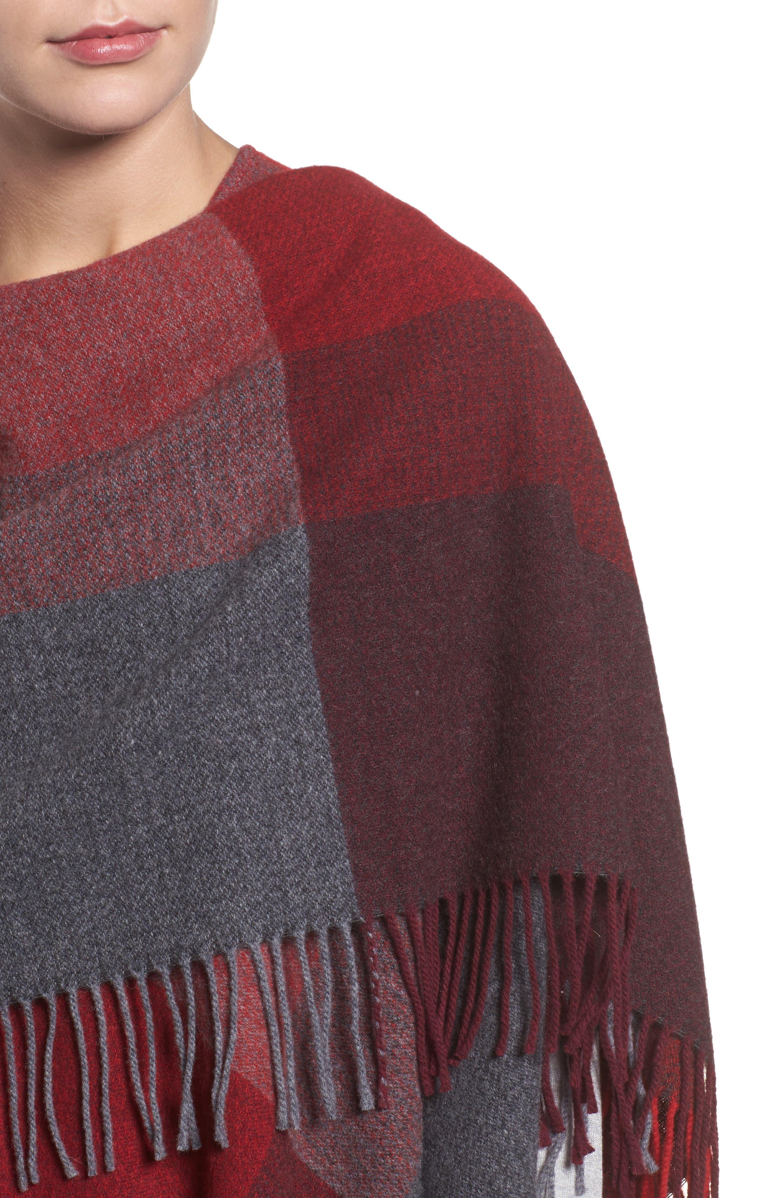 Colorblock Wool Wrap,                             Alternate thumbnail 8, color,