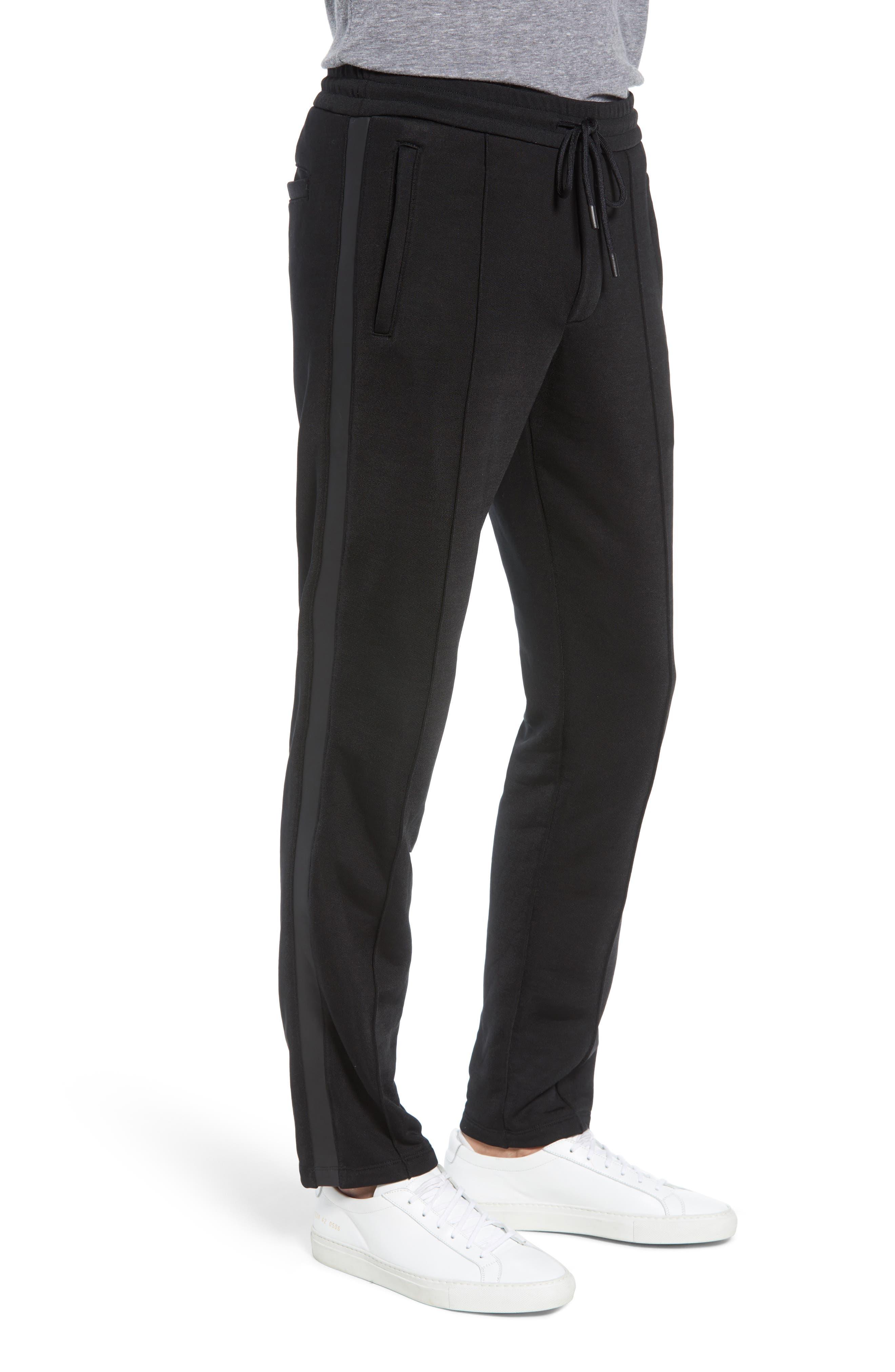 Heat Seal Classic Track Pants,                             Alternate thumbnail 3, color,                             BLACK