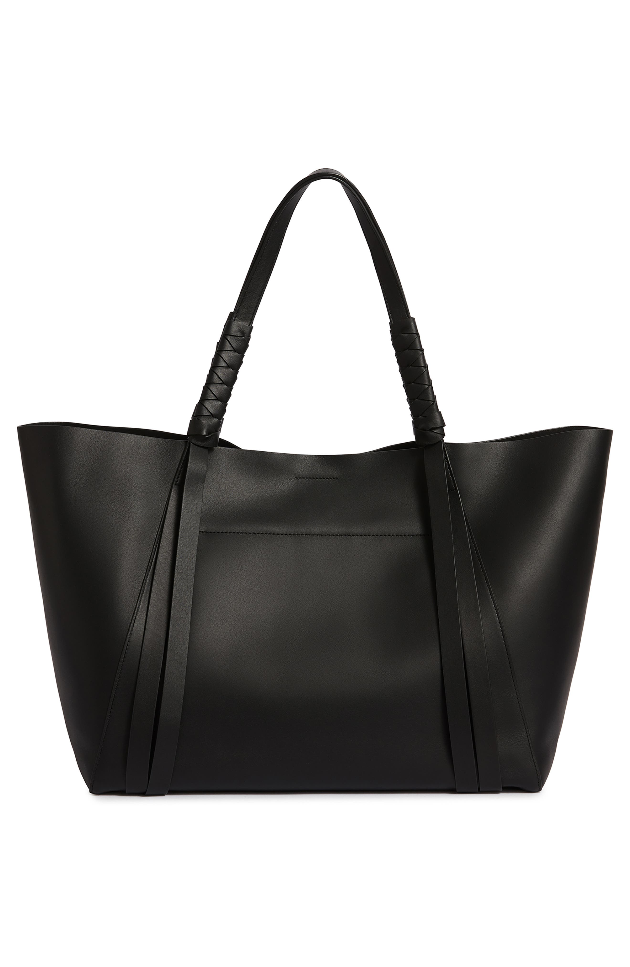 Voltaire Leather Tote,                             Alternate thumbnail 3, color,                             BLACK