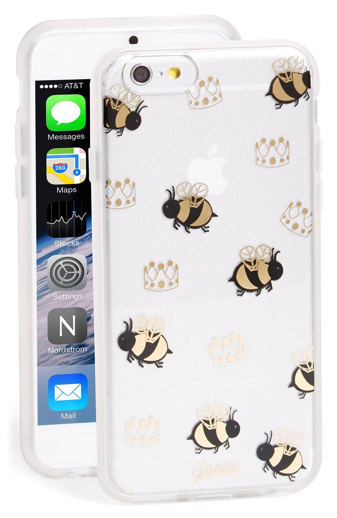 'Queen Bee' iPhone 6 & 6s Case, Main, color, 710