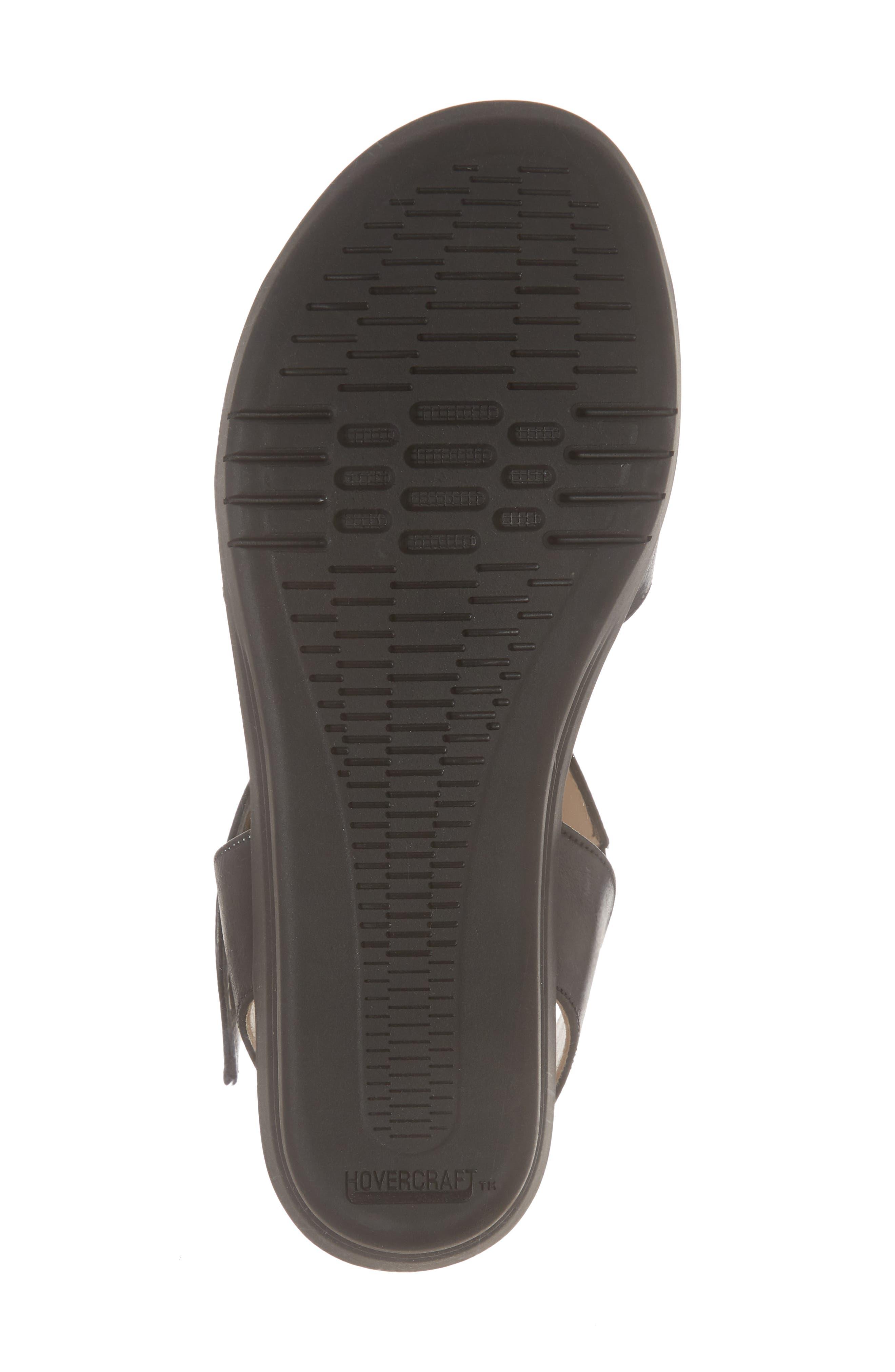 Gabby Platform Sandal,                             Alternate thumbnail 6, color,                             BLACK LEATHER