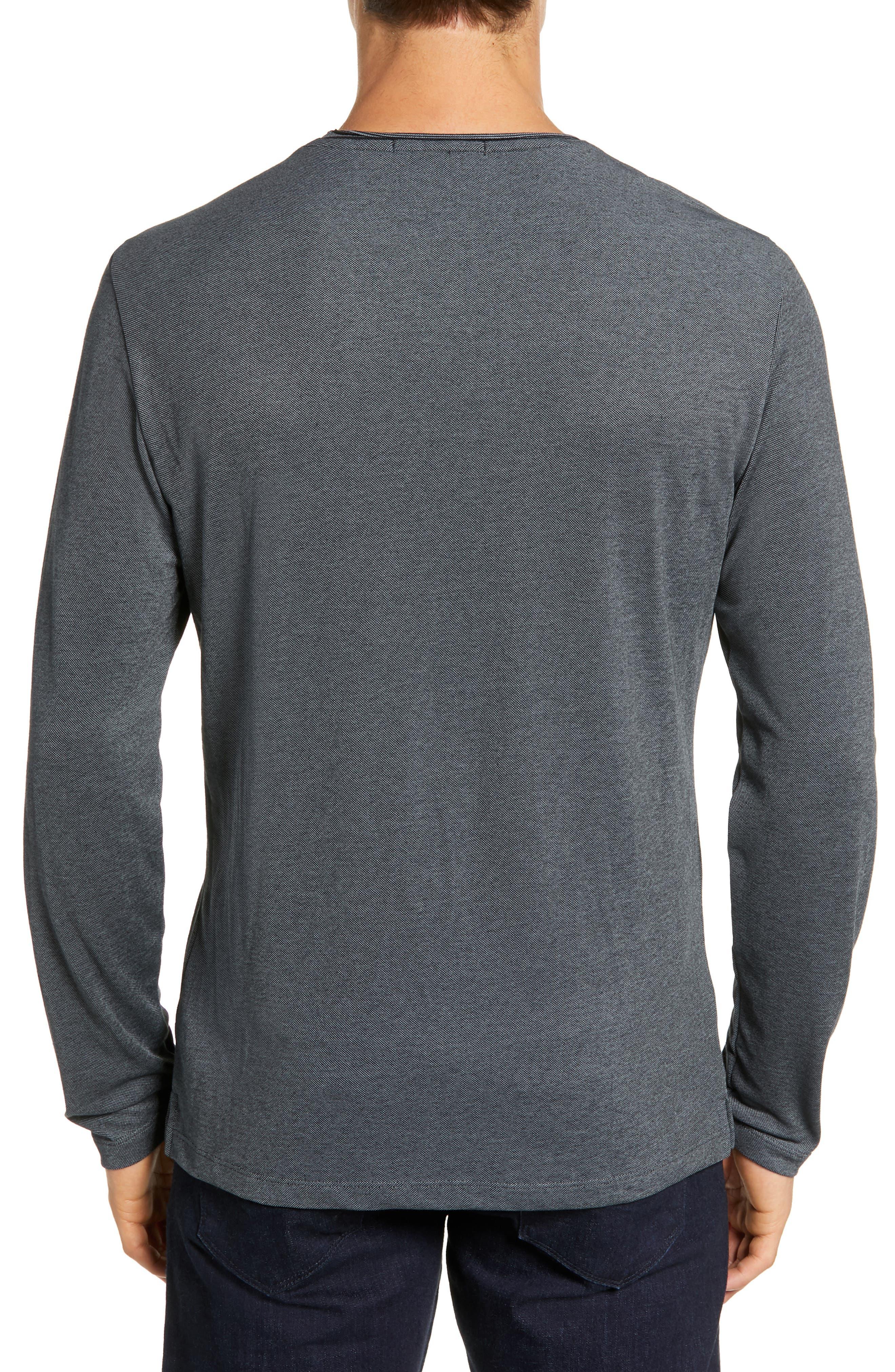 Grand Forks Long Sleeve Piqué T-Shirt,                             Alternate thumbnail 2, color,                             GREY