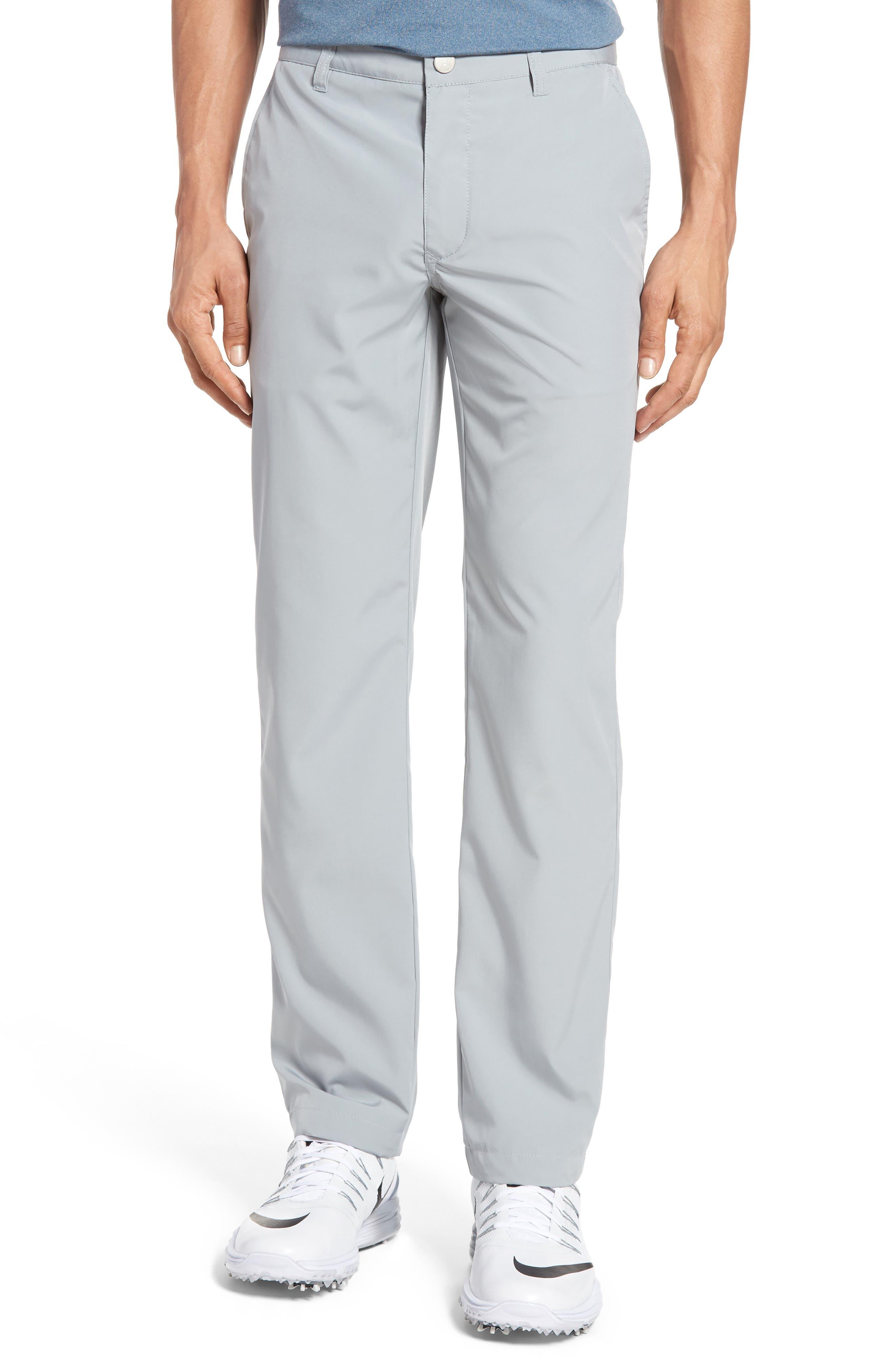 Lightweight Highland Slim Fit Golf Pants,                         Main,                         color, PEWTER
