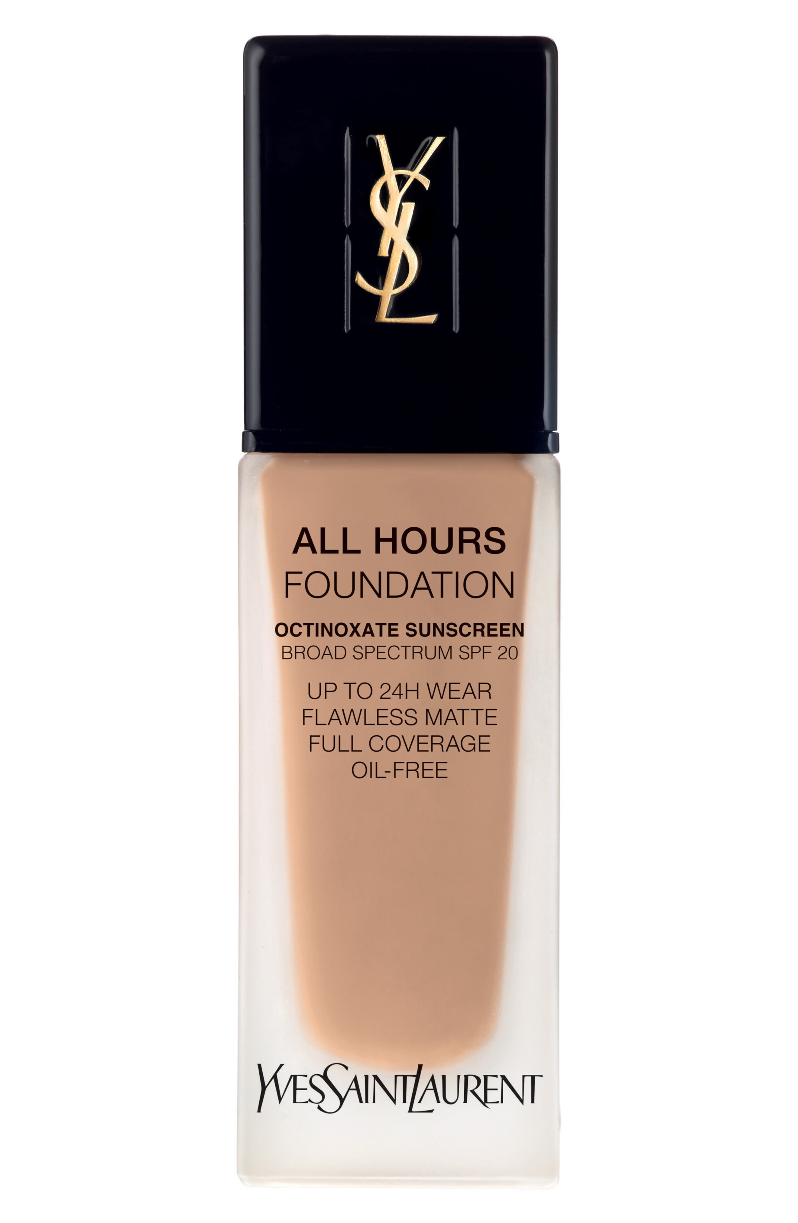 All Hours Full Coverage Matte Foundation SPF 20,                             Main thumbnail 1, color,                             B60 AMBER