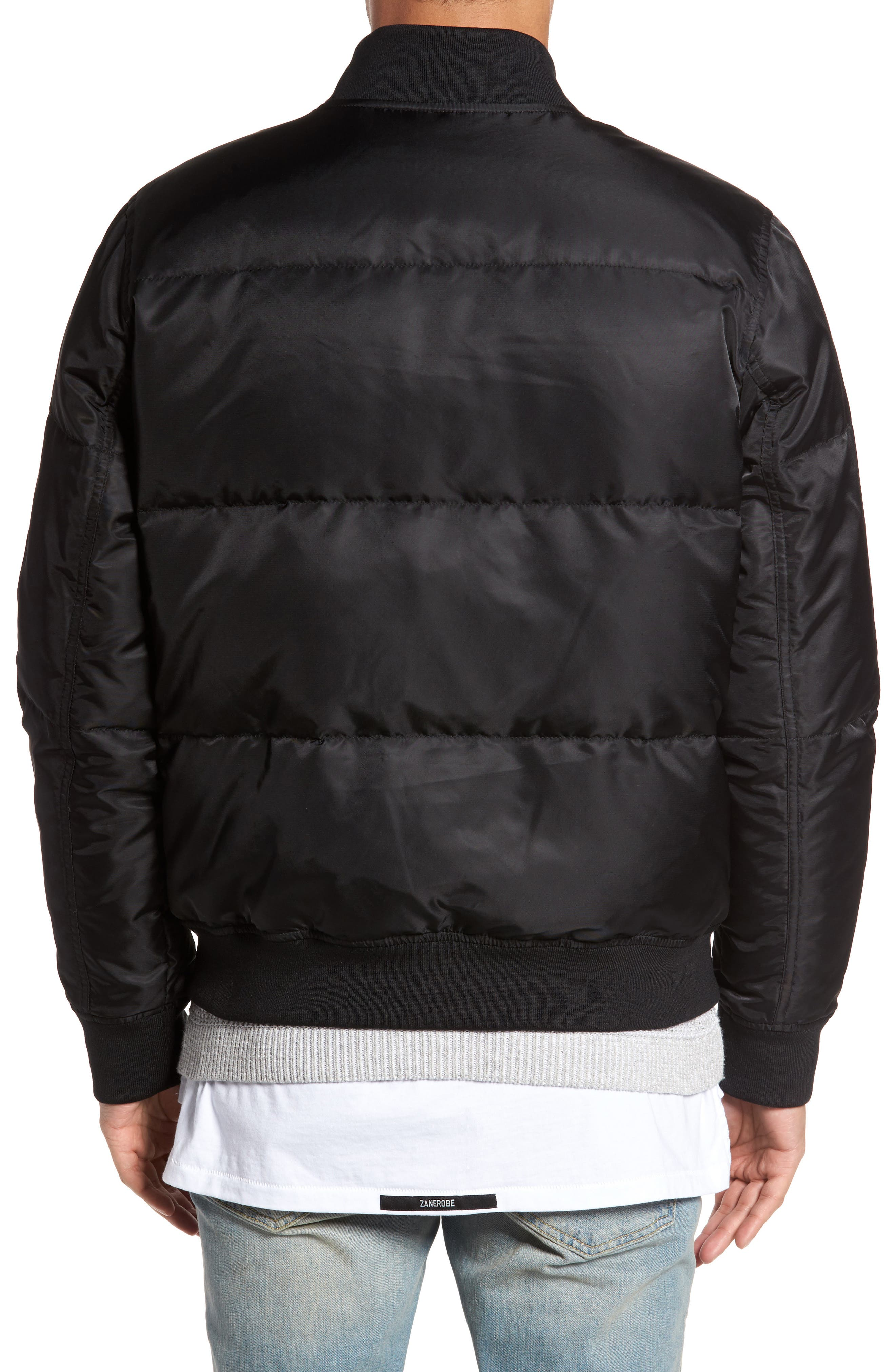 Quilted Down Bomber Jacket,                             Alternate thumbnail 5, color,
