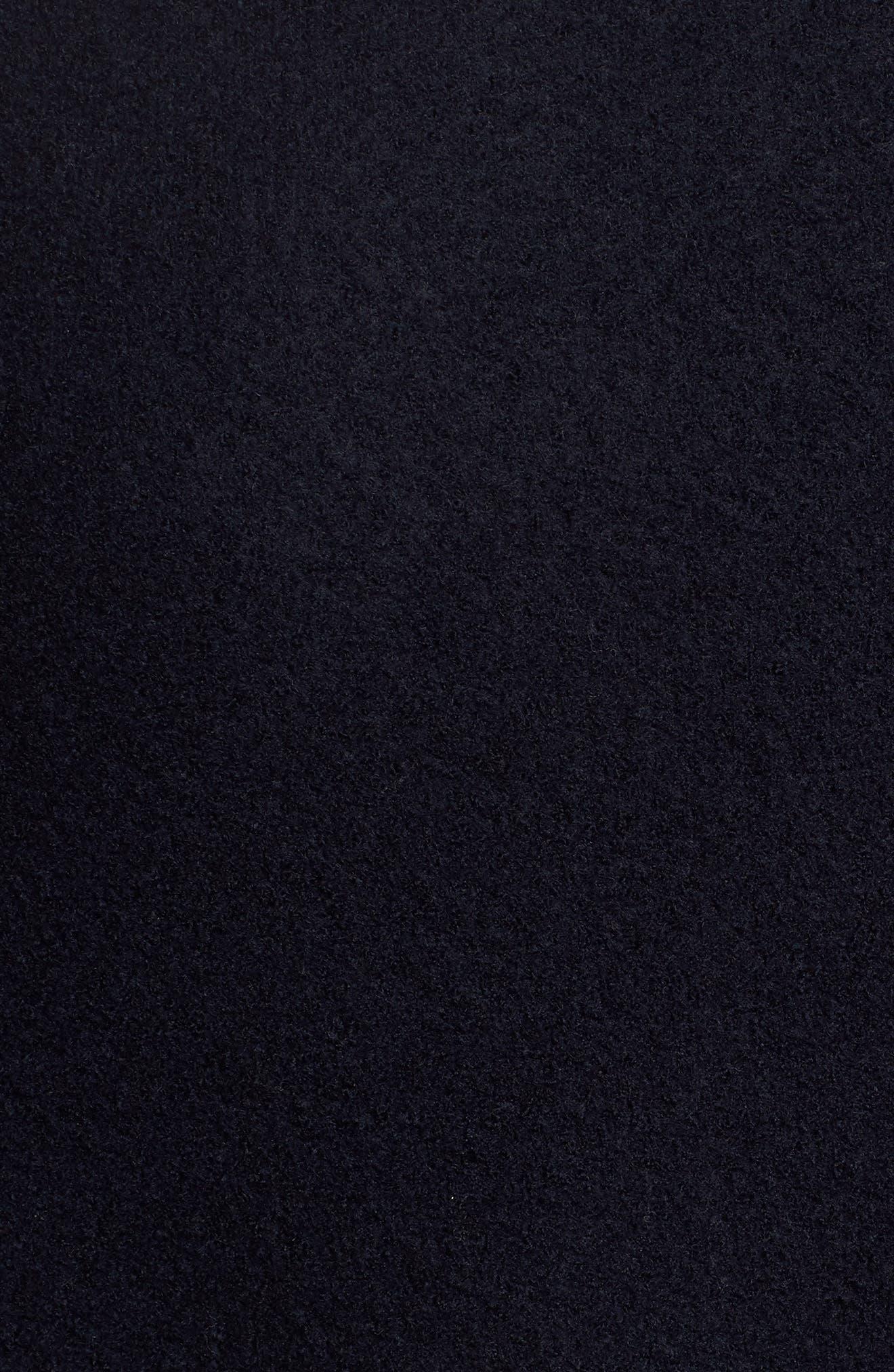 Felted Wool Bomber Jacket,                             Alternate thumbnail 6, color,                             BLUE GRAPHITE