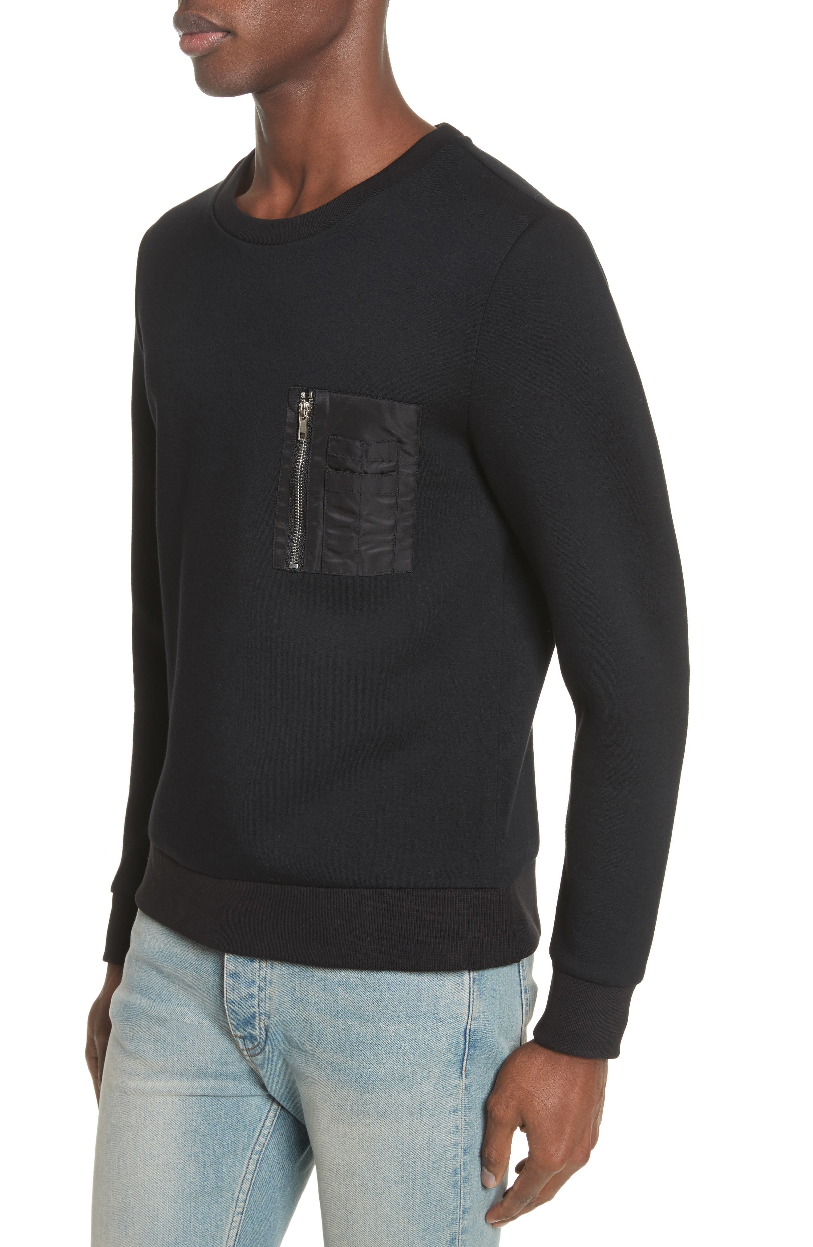 Fleece Sweatshirt,                             Alternate thumbnail 4, color,                             001