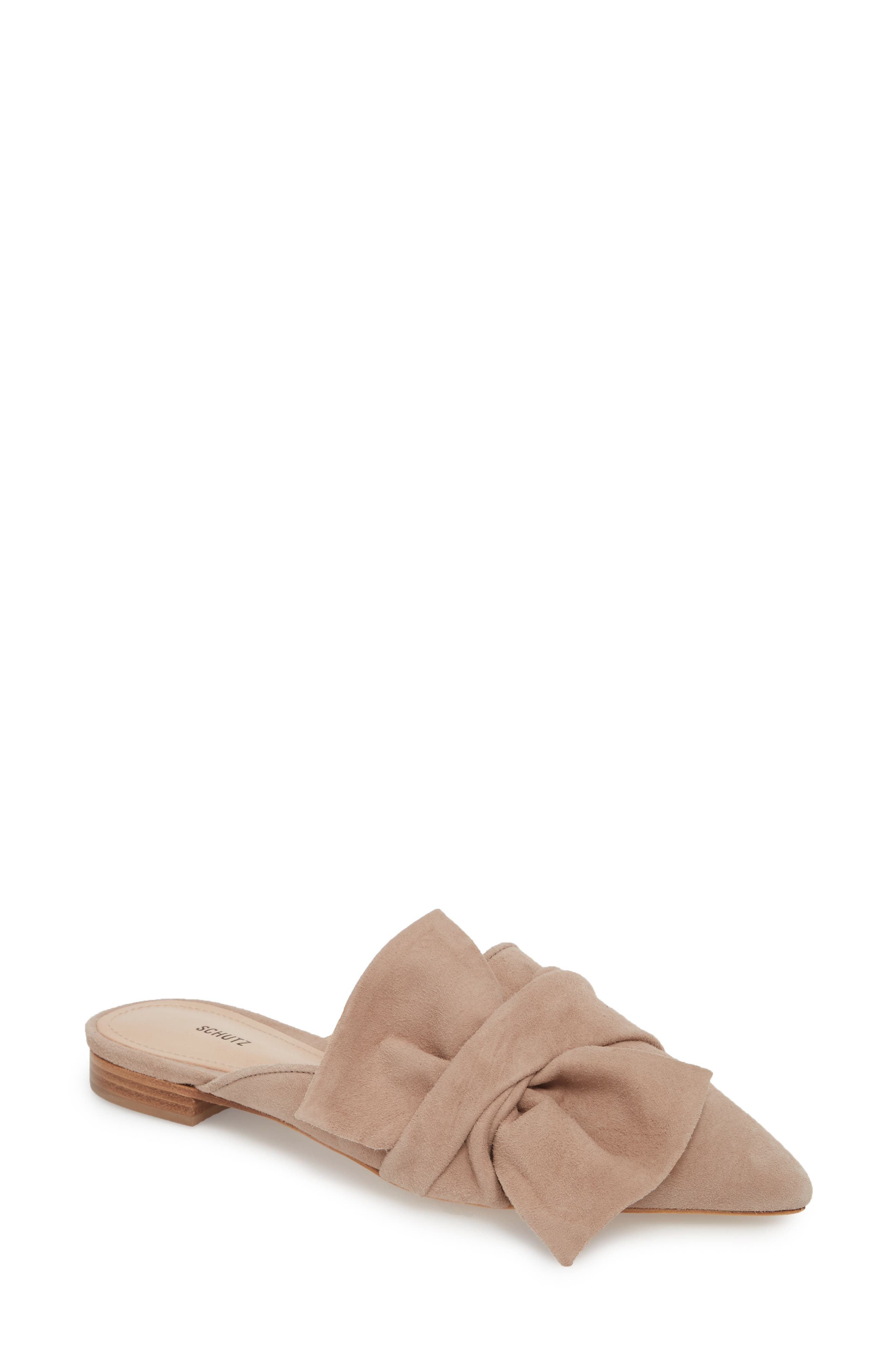 D'Ana Knotted Loafer Mule,                             Main thumbnail 1, color,                             NEUTRAL SUEDE