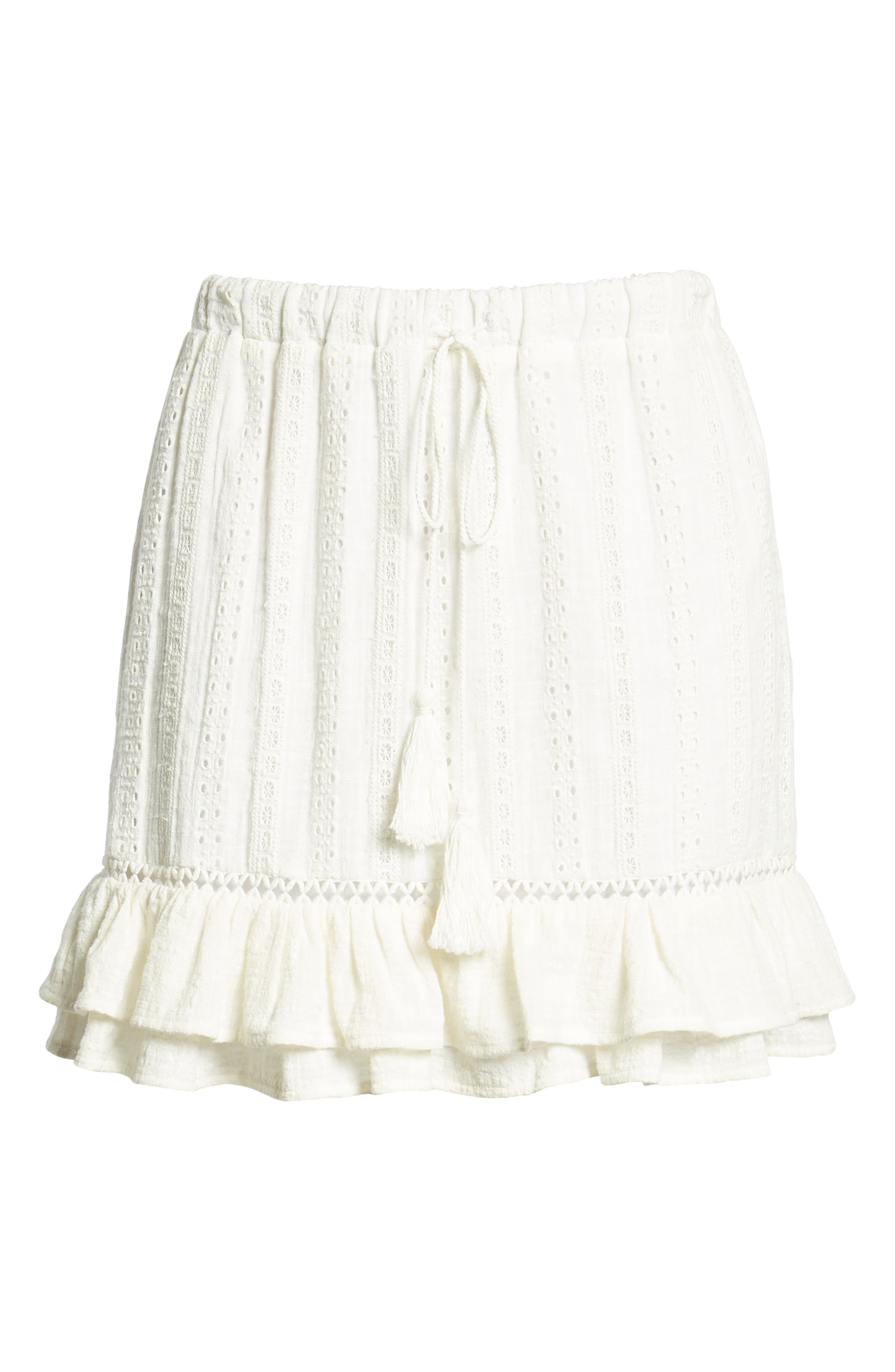 Daisy Ruffle Miniskirt,                             Alternate thumbnail 6, color,