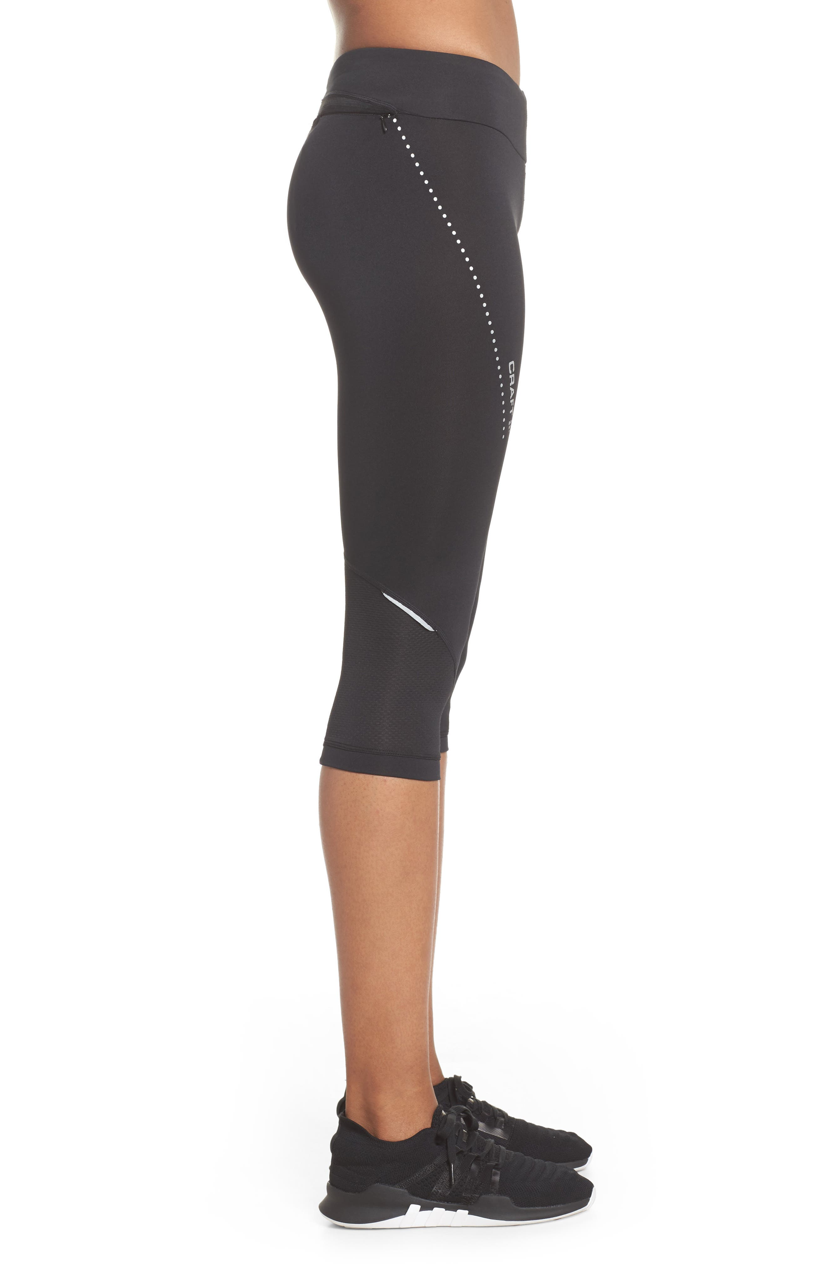 Essential Capri Leggings,                             Alternate thumbnail 3, color,