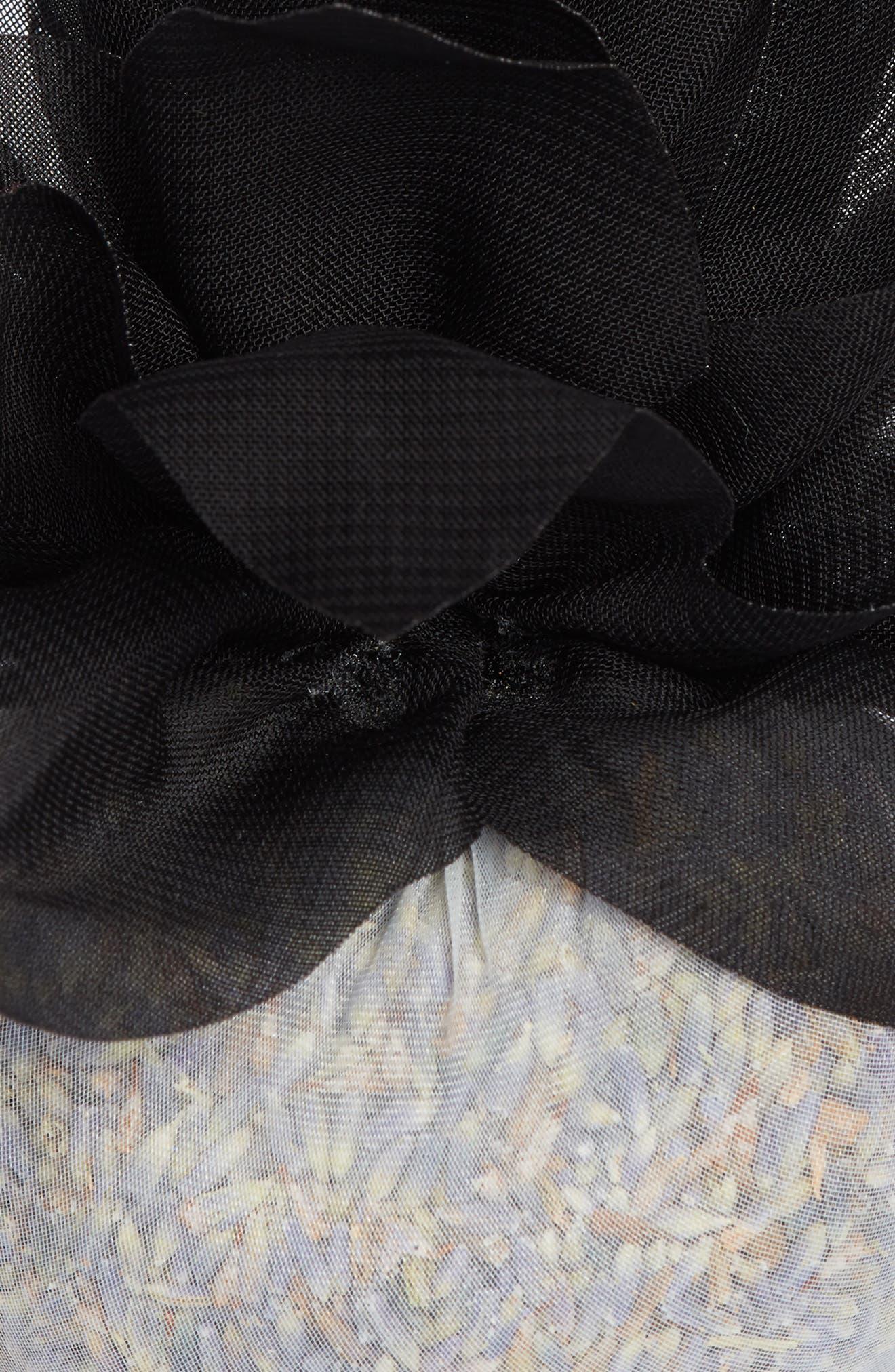 Stonehide Flower Sachet,                             Alternate thumbnail 2, color,                             BLACK