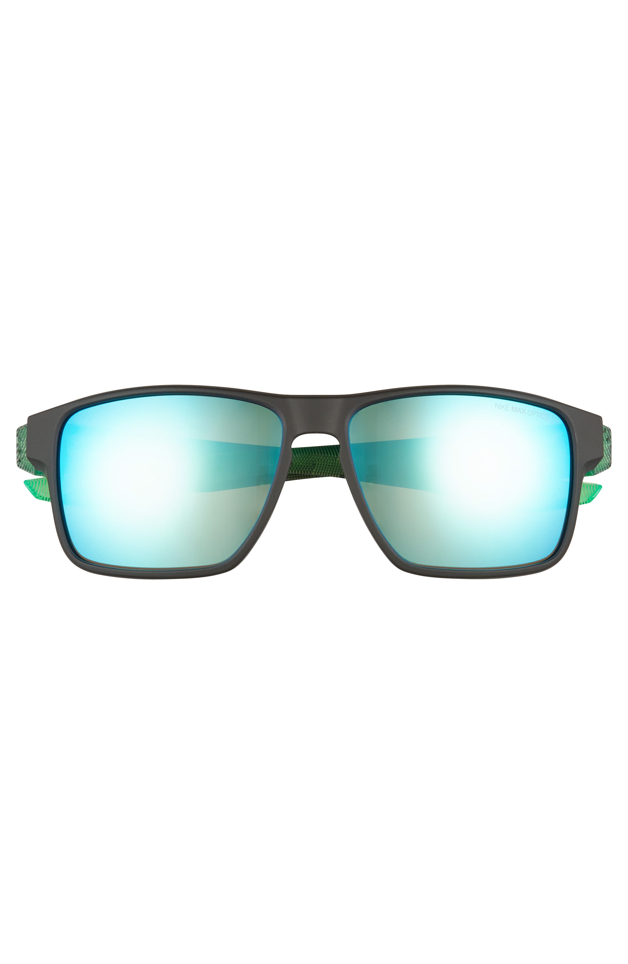Essential Venture R 59mm Sunglasses,                             Alternate thumbnail 2, color,                             MATTE BLACK/ GREEN