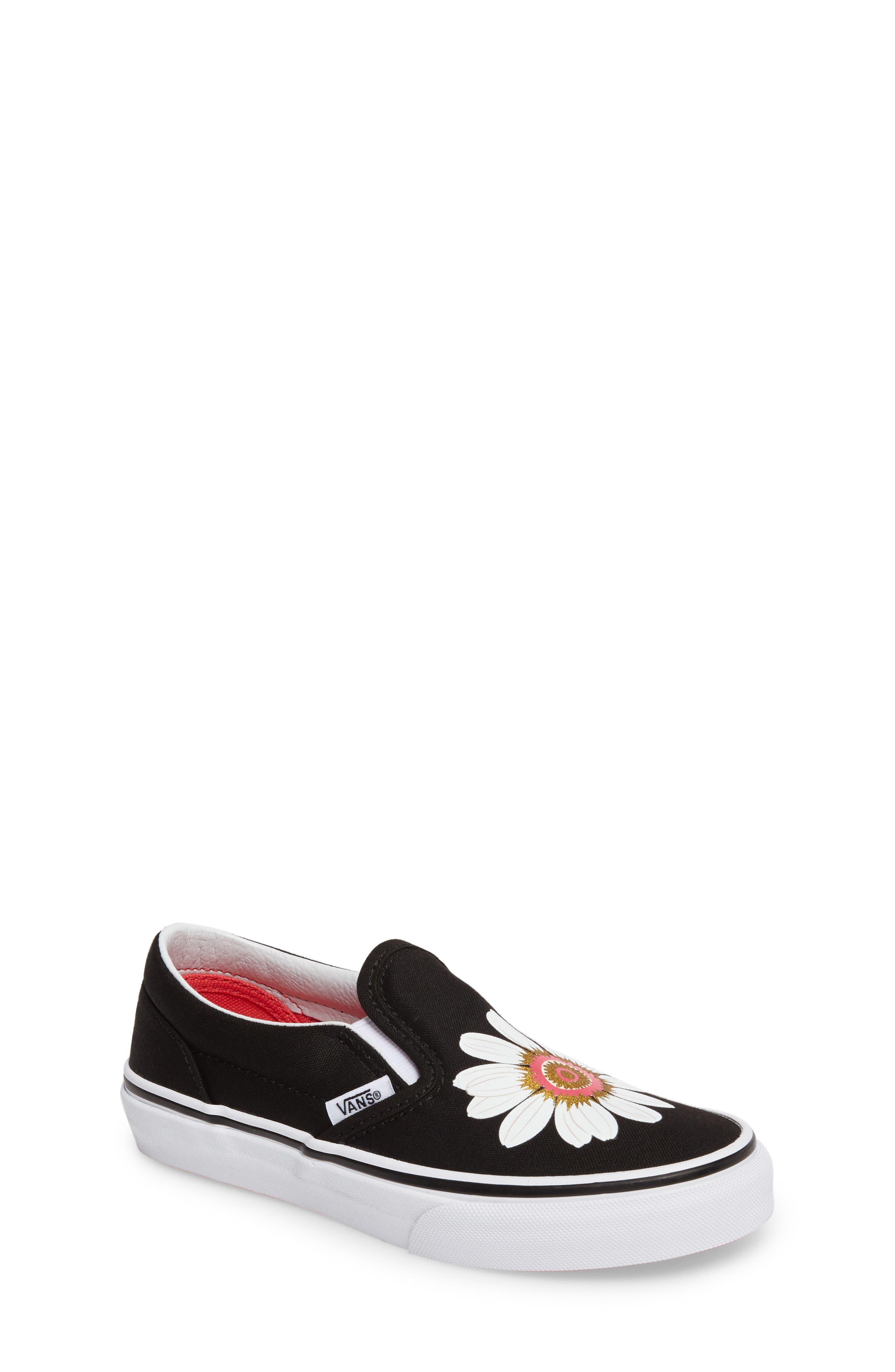 Classic Flower Slip-On Sneaker,                         Main,                         color, 001