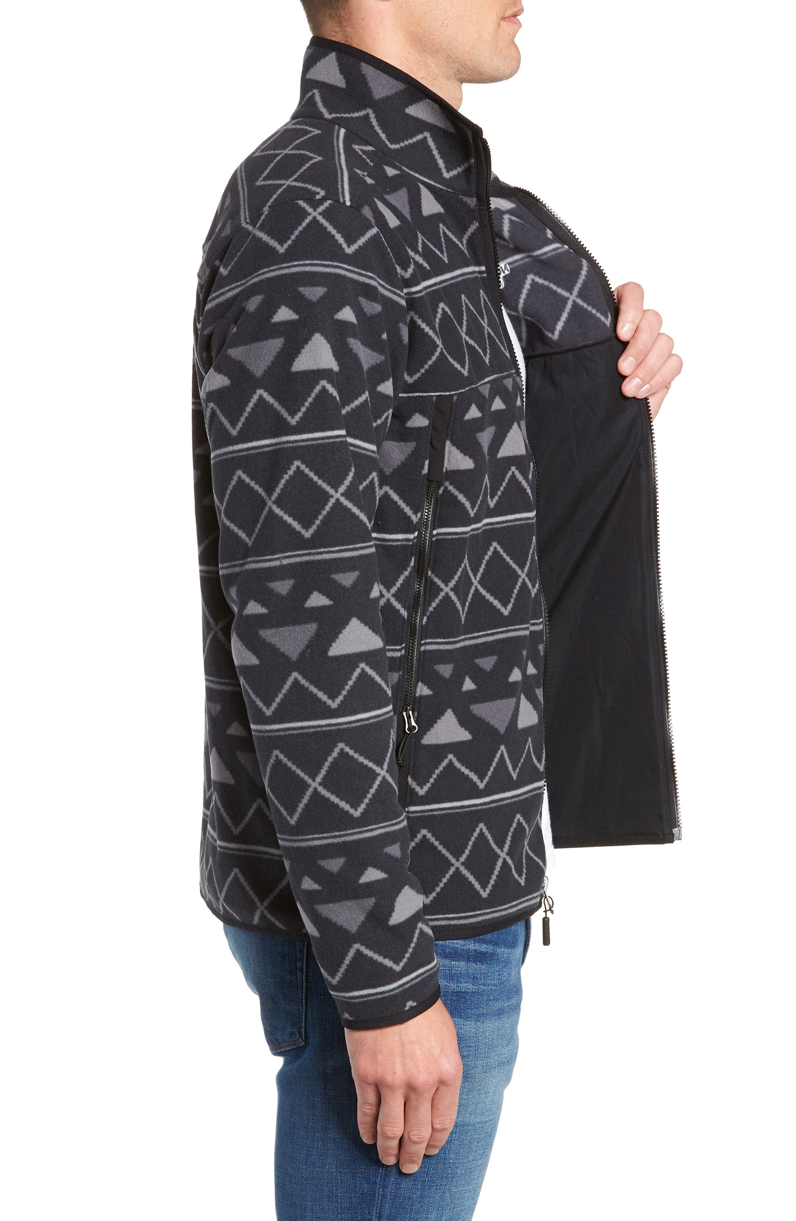 Glacier Alpine Jacket,                             Alternate thumbnail 3, color,                             TNF BLACK TRIANGLE STRIPE