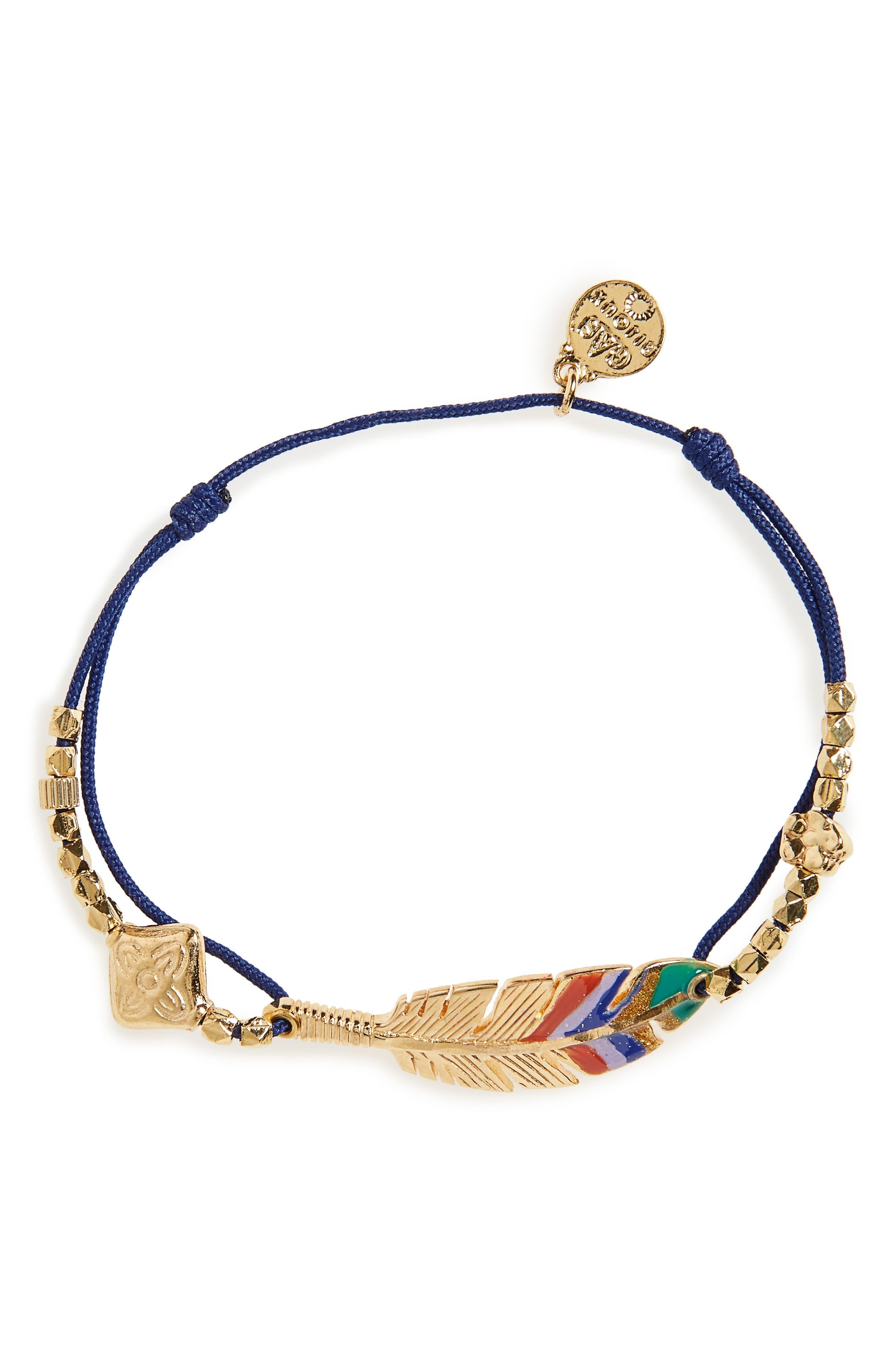 'Penna' String Bracelet,                         Main,                         color, PURPLE