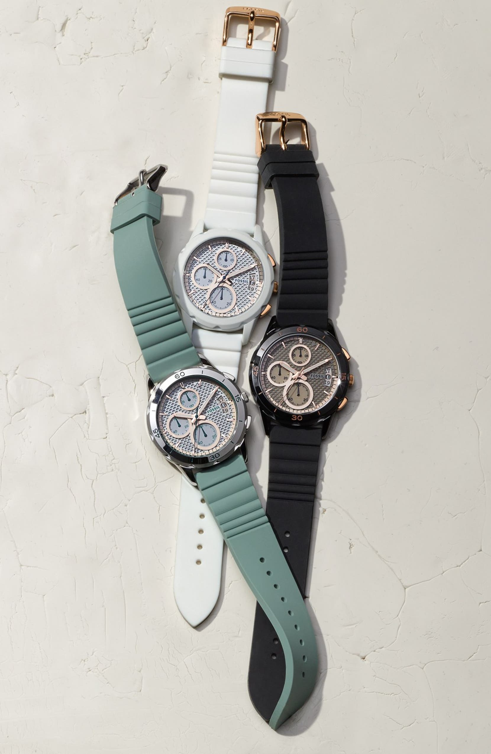 Fossil Modern Pursuit Chronograph Silicone Strap Watch 39mm Nordstrom